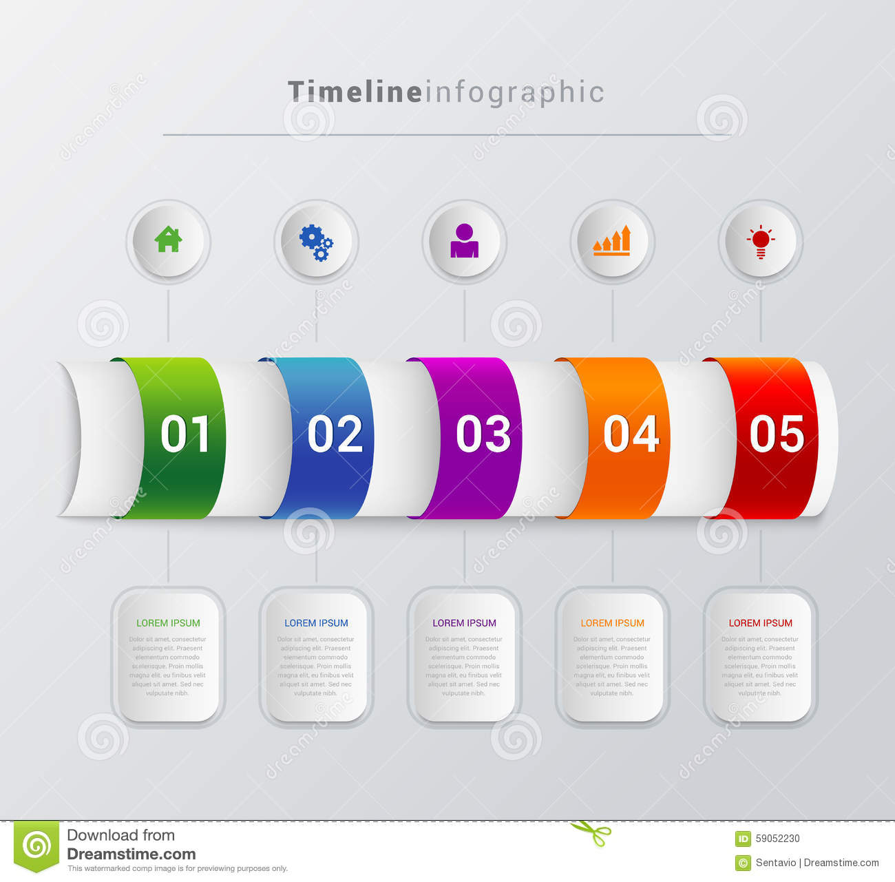 Vector Timeline Steps Infographics Template Background ...