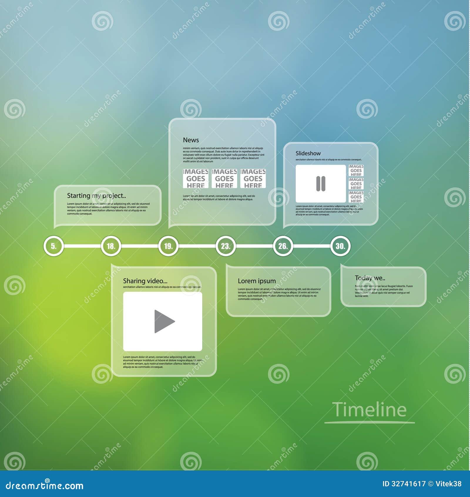 Timeline Template Vector timeline template.