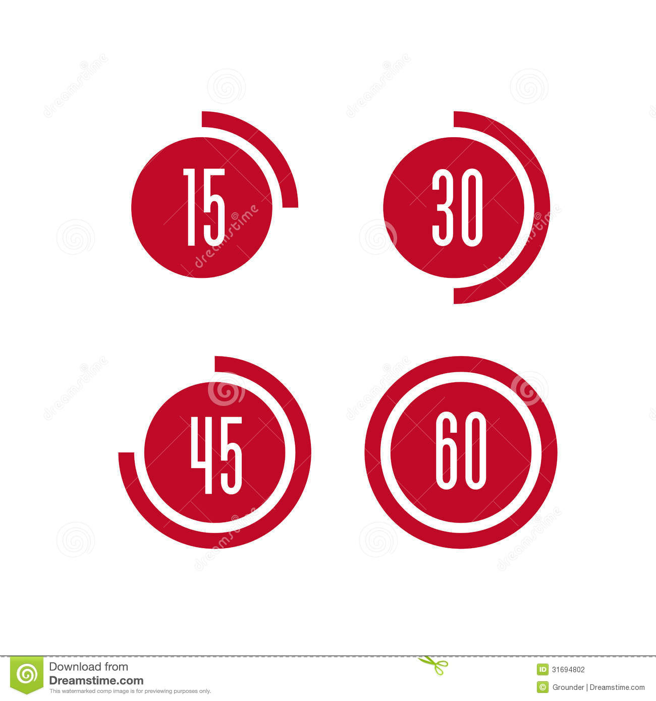 Vector Timer Icon Stock Photography - Image: 31694802
