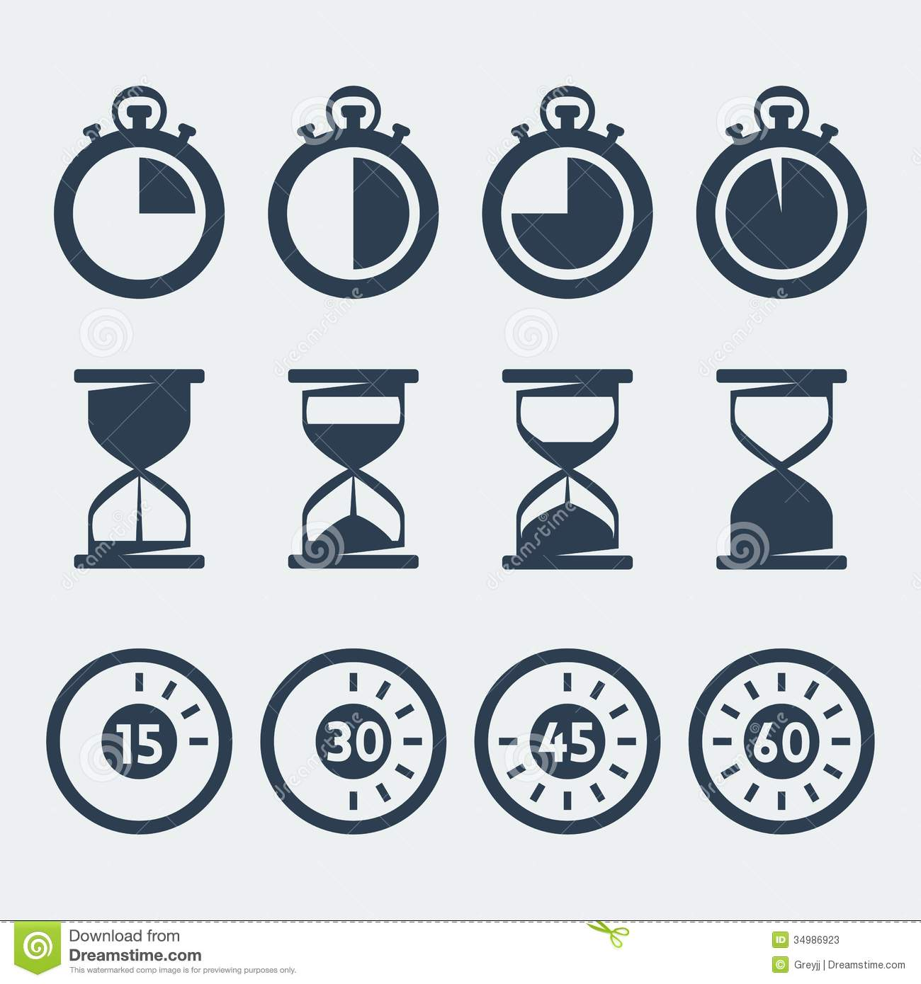 Vector timers icons set stock vector. Illustration of egg ...