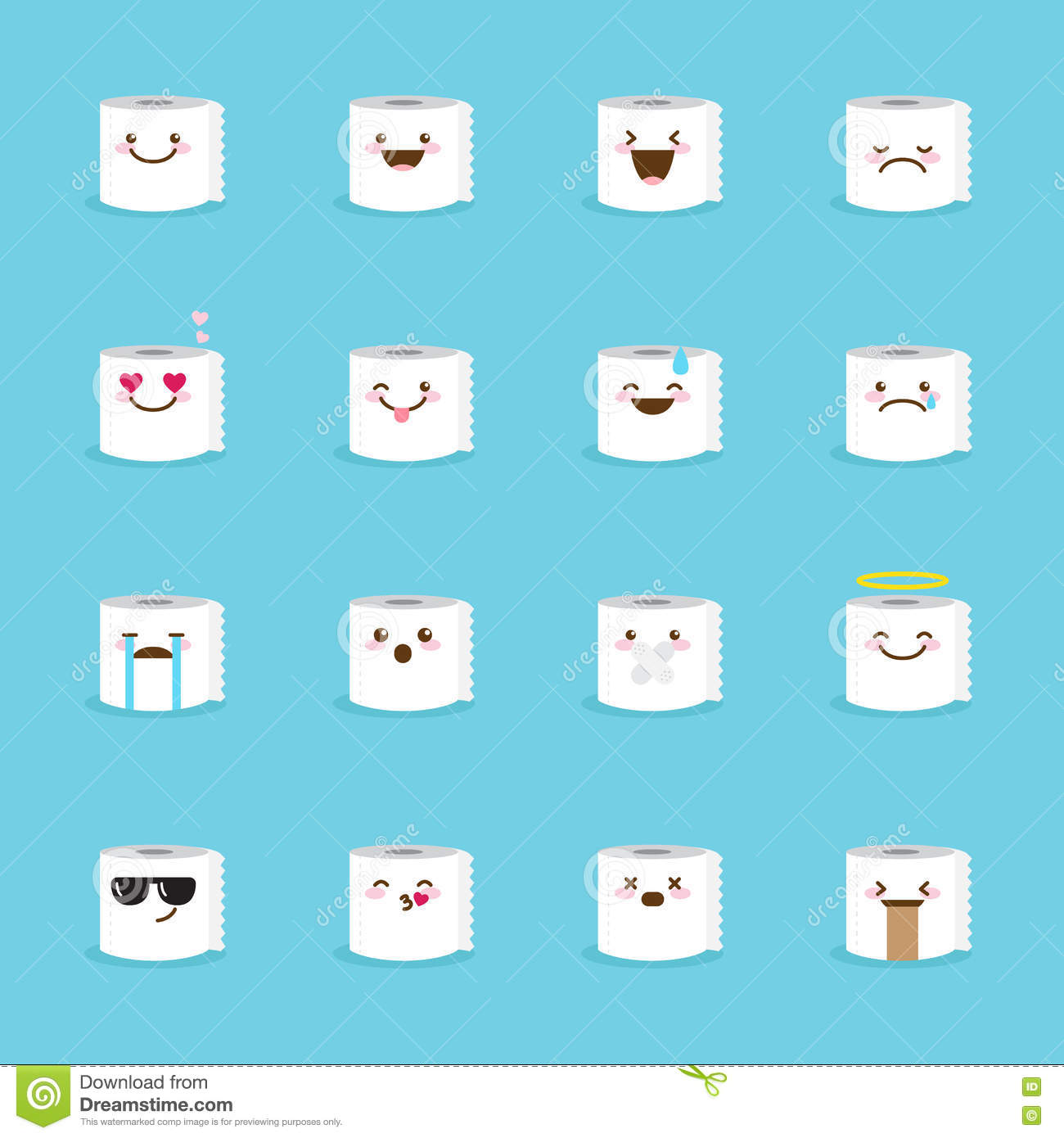 Popular Toilet Paper Emoji Gallery