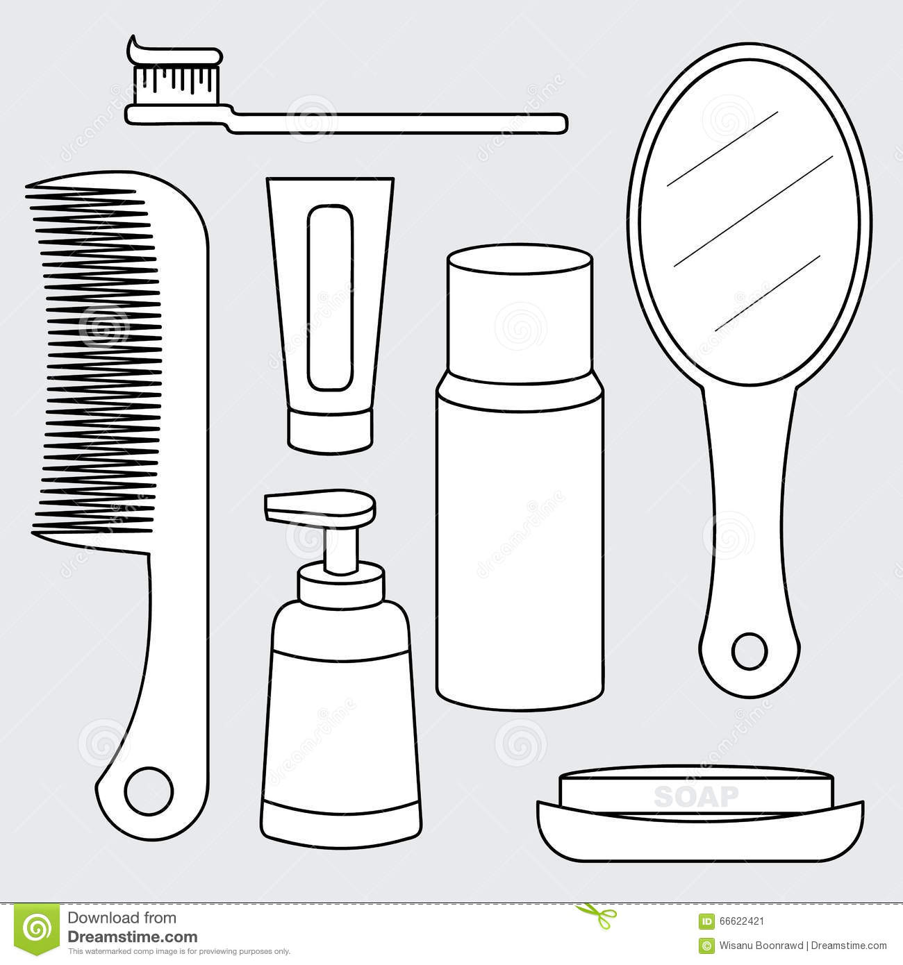 hair care coloring pages - photo#16