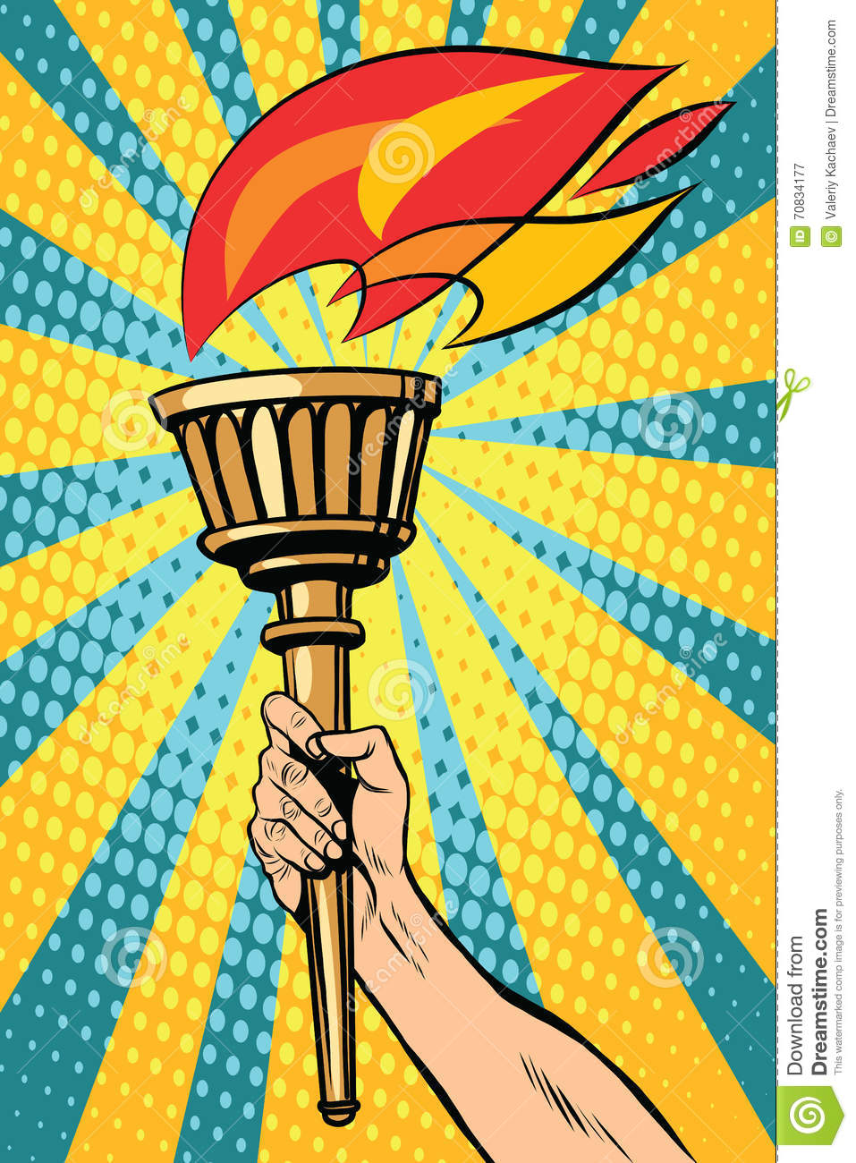 Vector Torch With Fire In The Hand Stock Vector - Illustration of ... for Sports Torch With Hand  67qdu