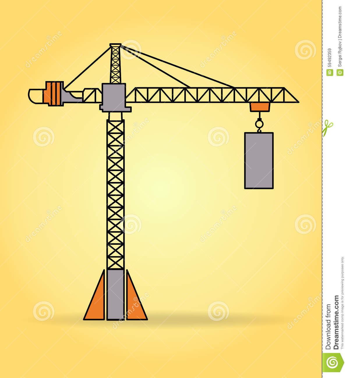 Tower Crane Design : Vector tower crane stock image