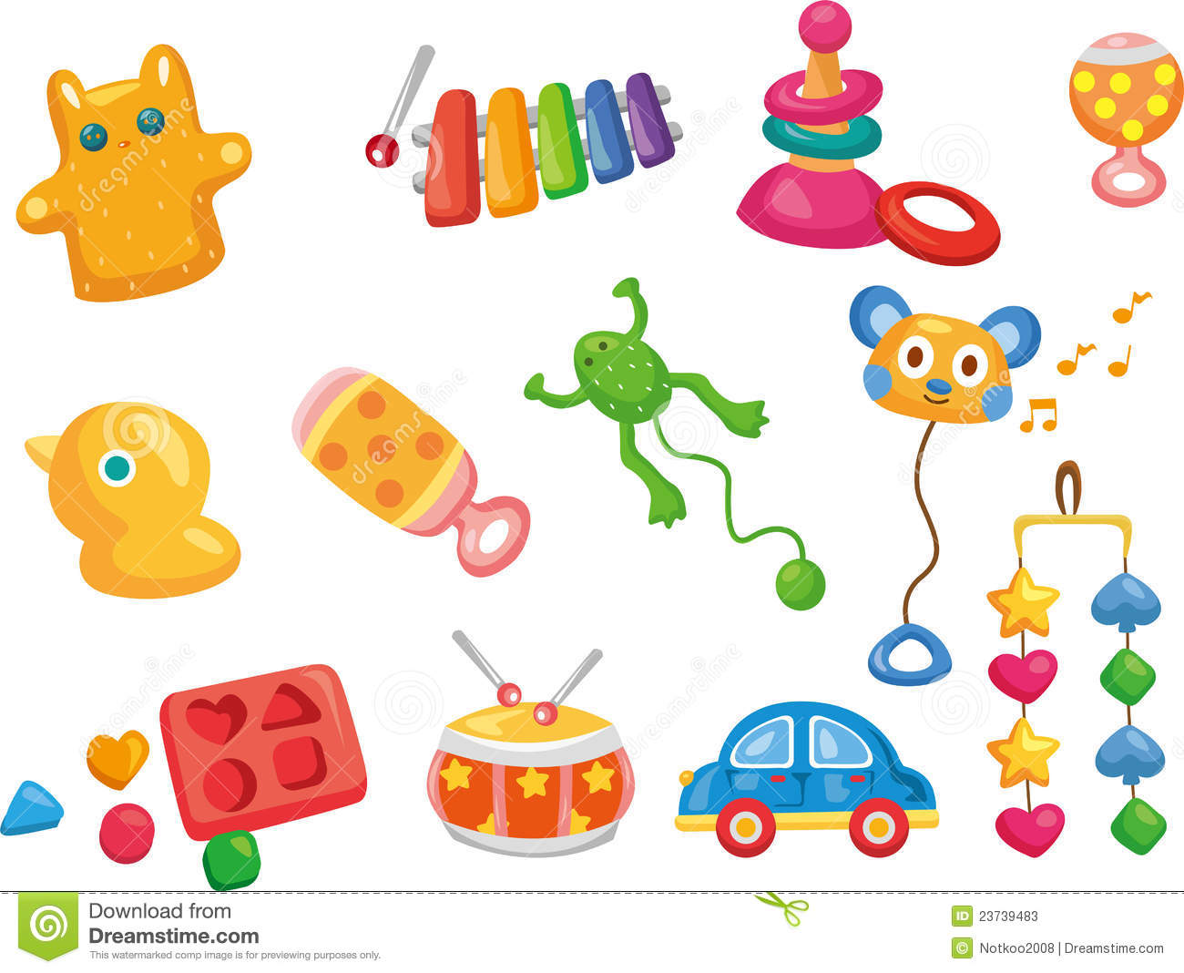 Vector Toy Icons. Baby Toys Stock Photos - Image: 23739483