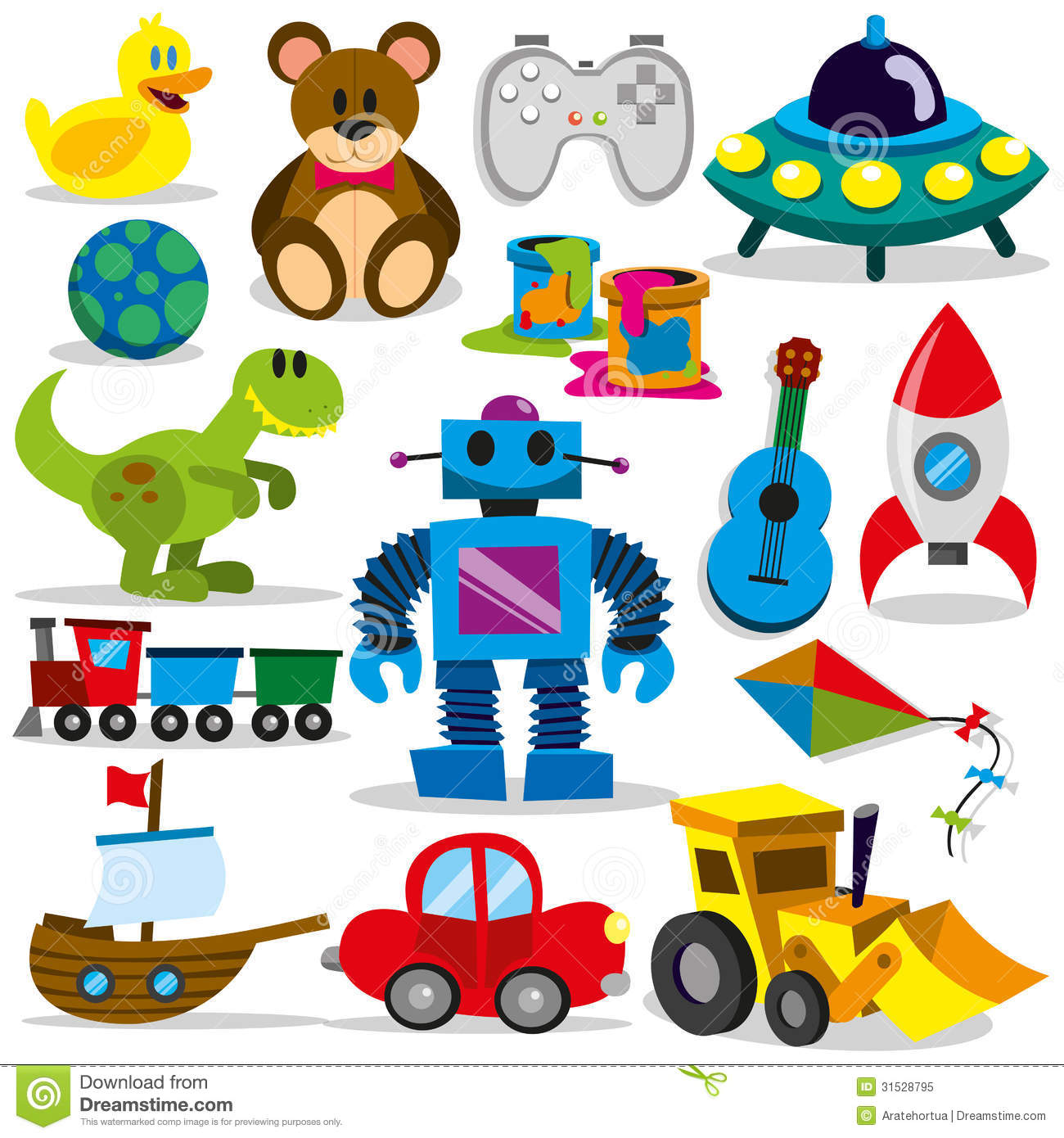 Vector Toy Set Stock Vector Image Of Baby Child
