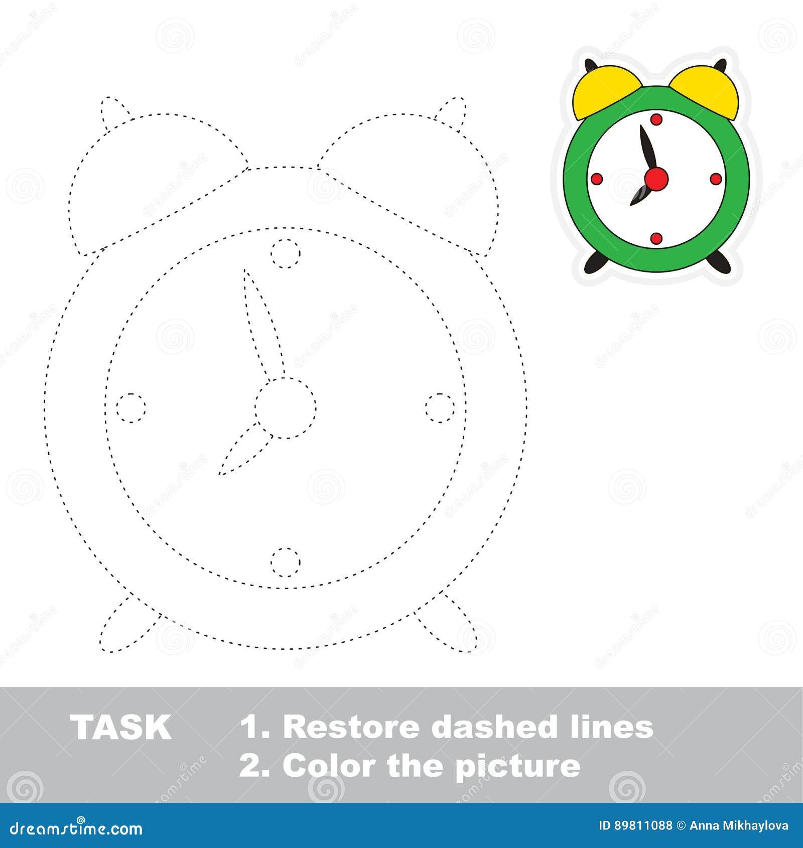 Vector Trace Educational Game For Preschool Kids Stock Vector