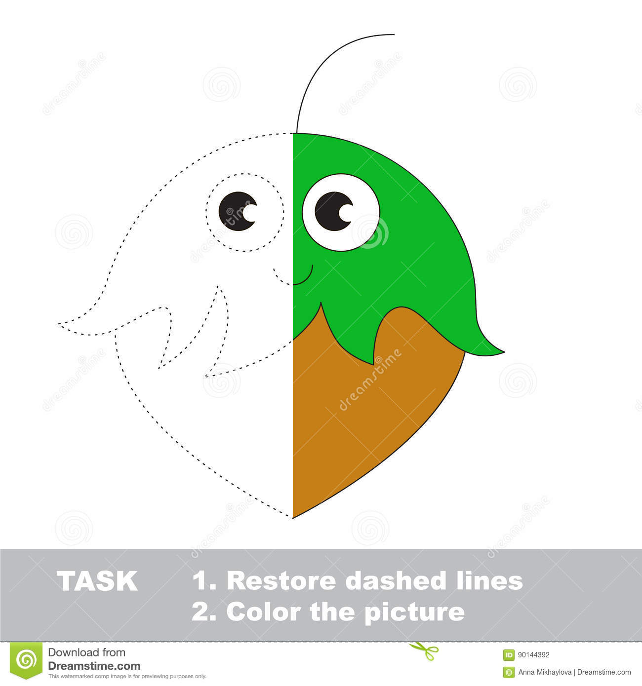 Vector Trace Educational Game For Preschool Kids. Stock Vector ...