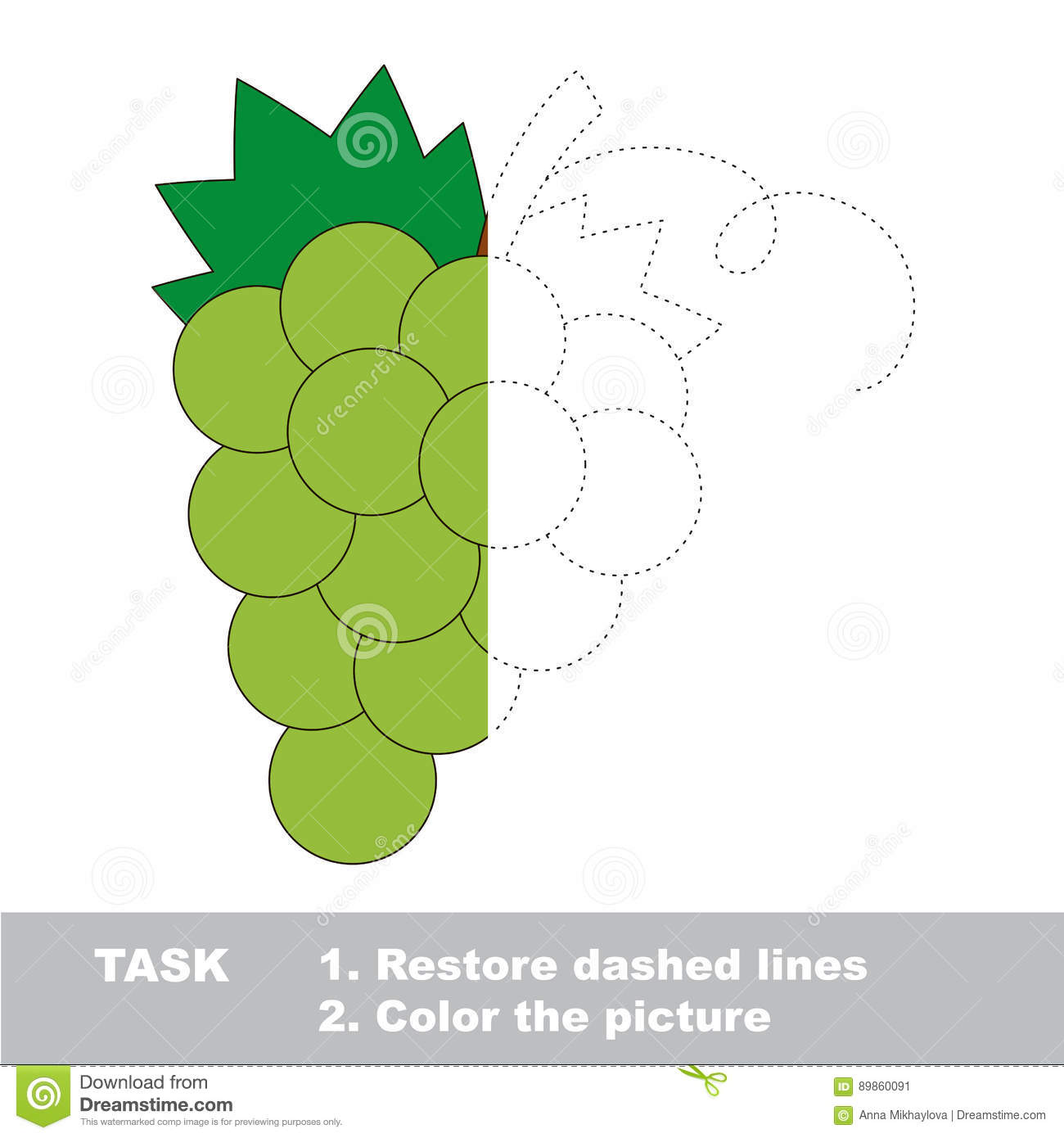 Vector Trace Game With Berry. Stock Vector - Illustration of green ...