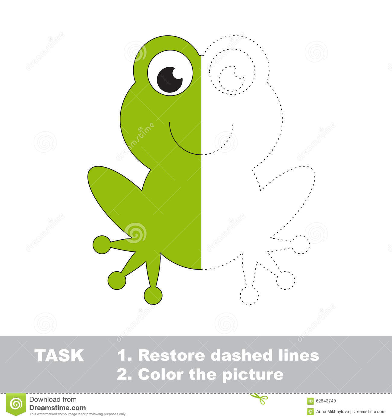 Vector Trace Game. Umbrella To Be Colored. Stock Vector ...