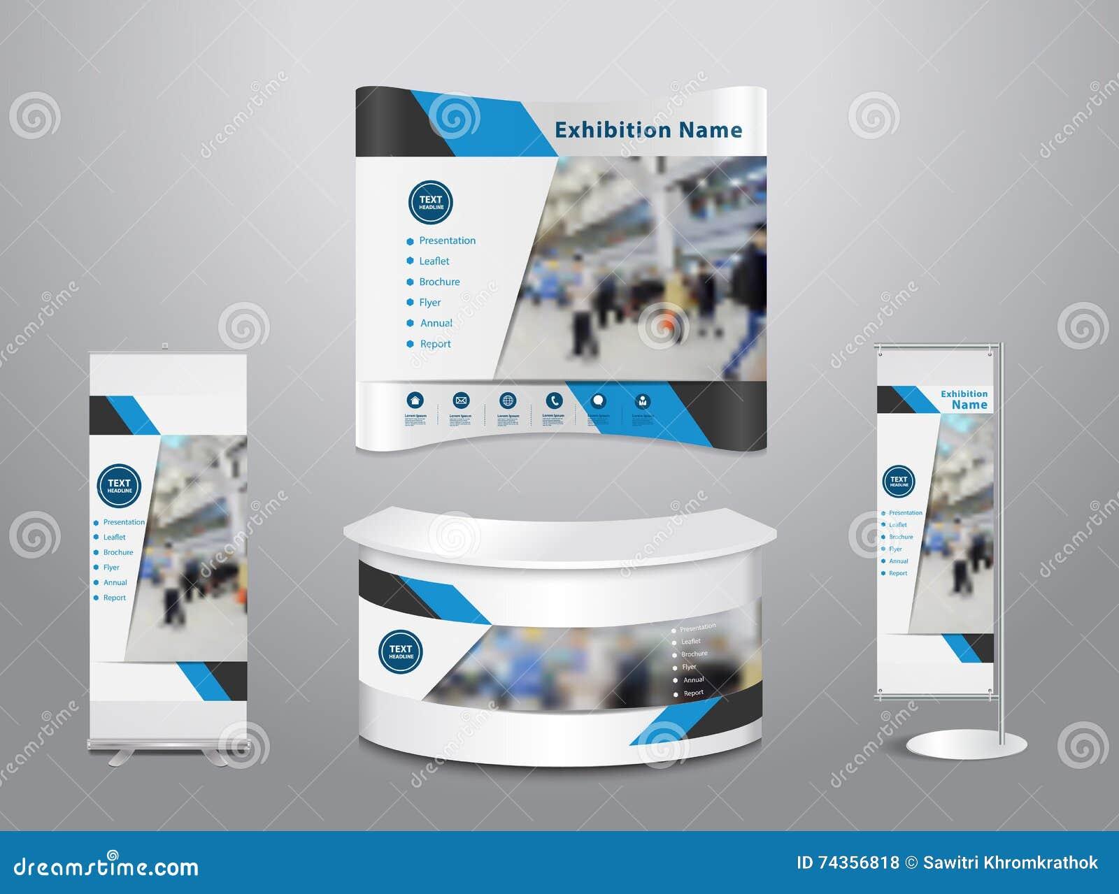 Trade Exhibition Stand Vector : Vector trade exhibition stand with cover presentation stock vector