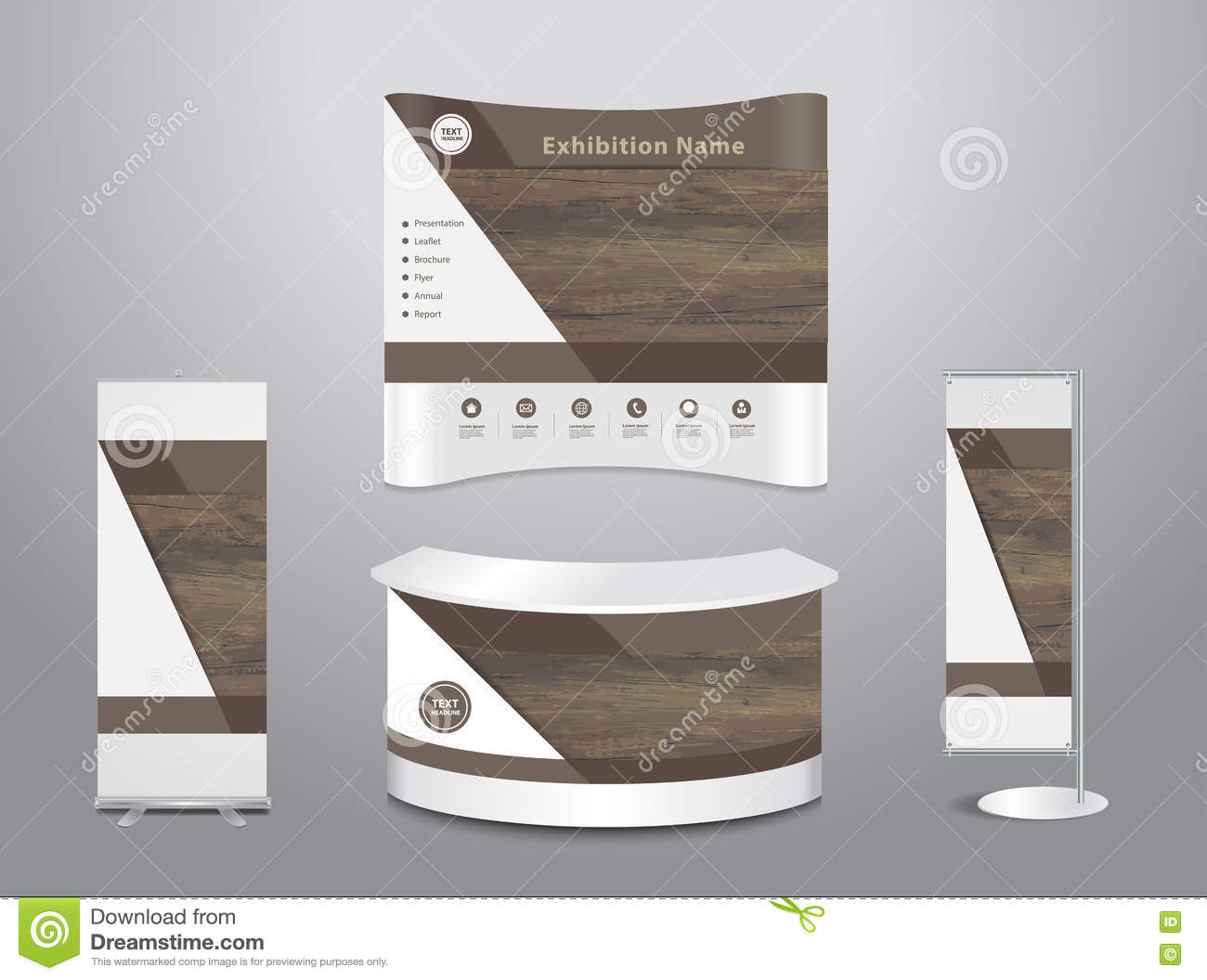 Trade Exhibition Stand Vector : Vector exhibition stand booth mockup clip art k fotosearch