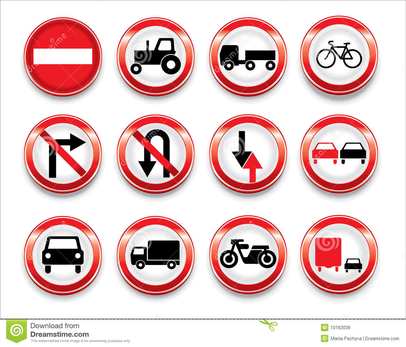 Vector Traffic Signs Collection Stock Vector ...