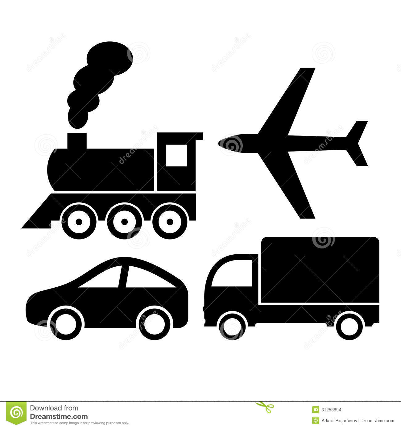 Vector Transport Icons Stock Vector Image Of Distribution