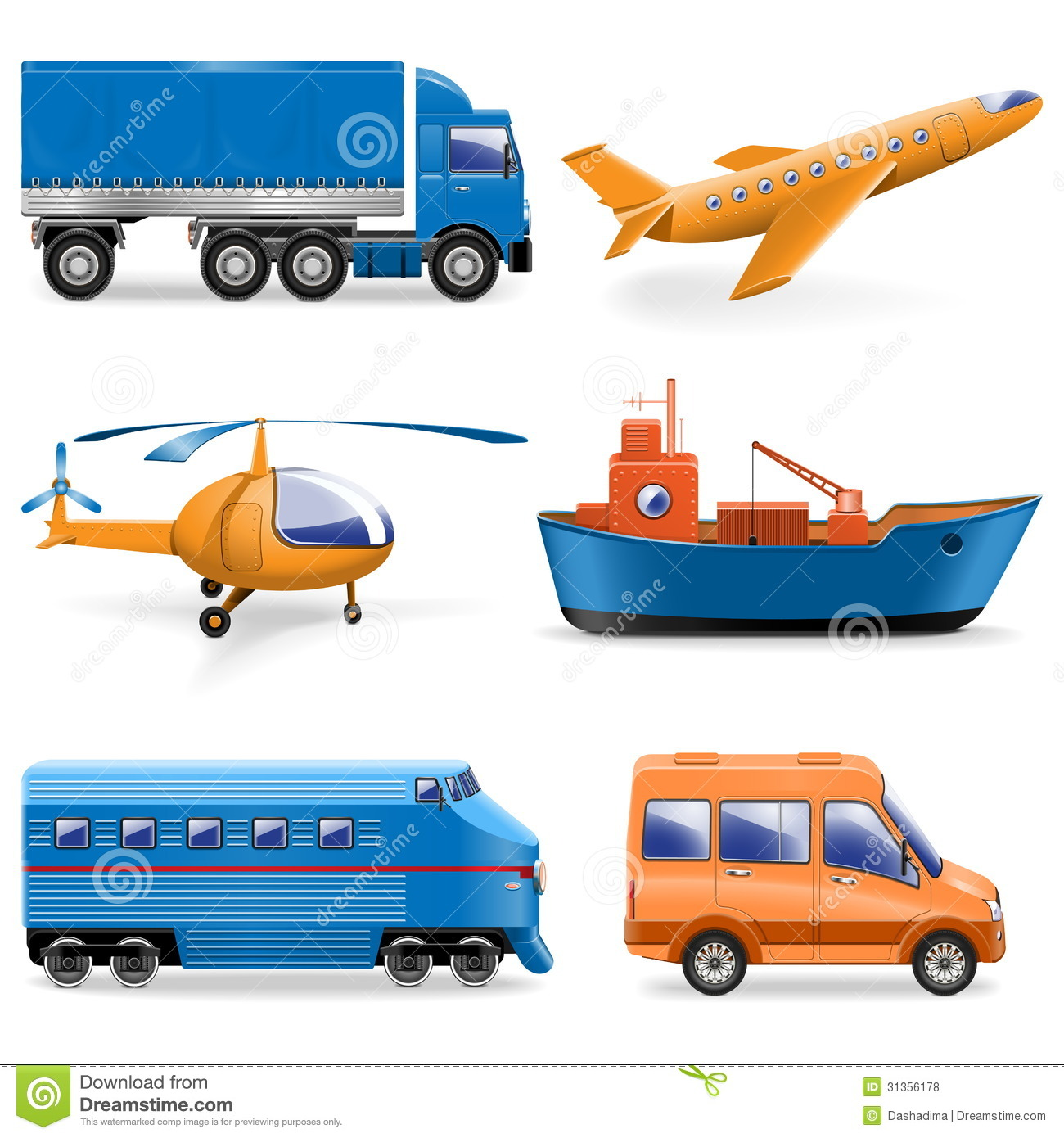 Vector Transport Icons...