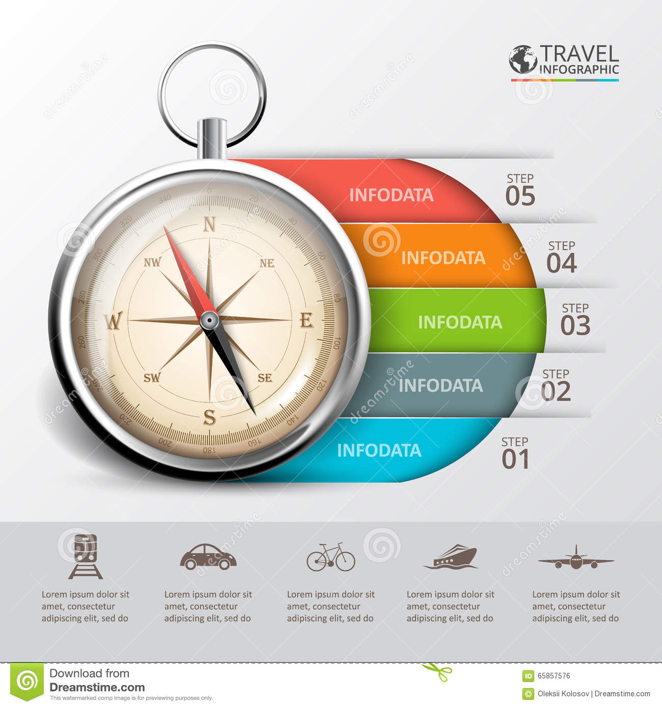 Vector travel infographic with a compass stock illustration vector travel infographic with a compass pooptronica