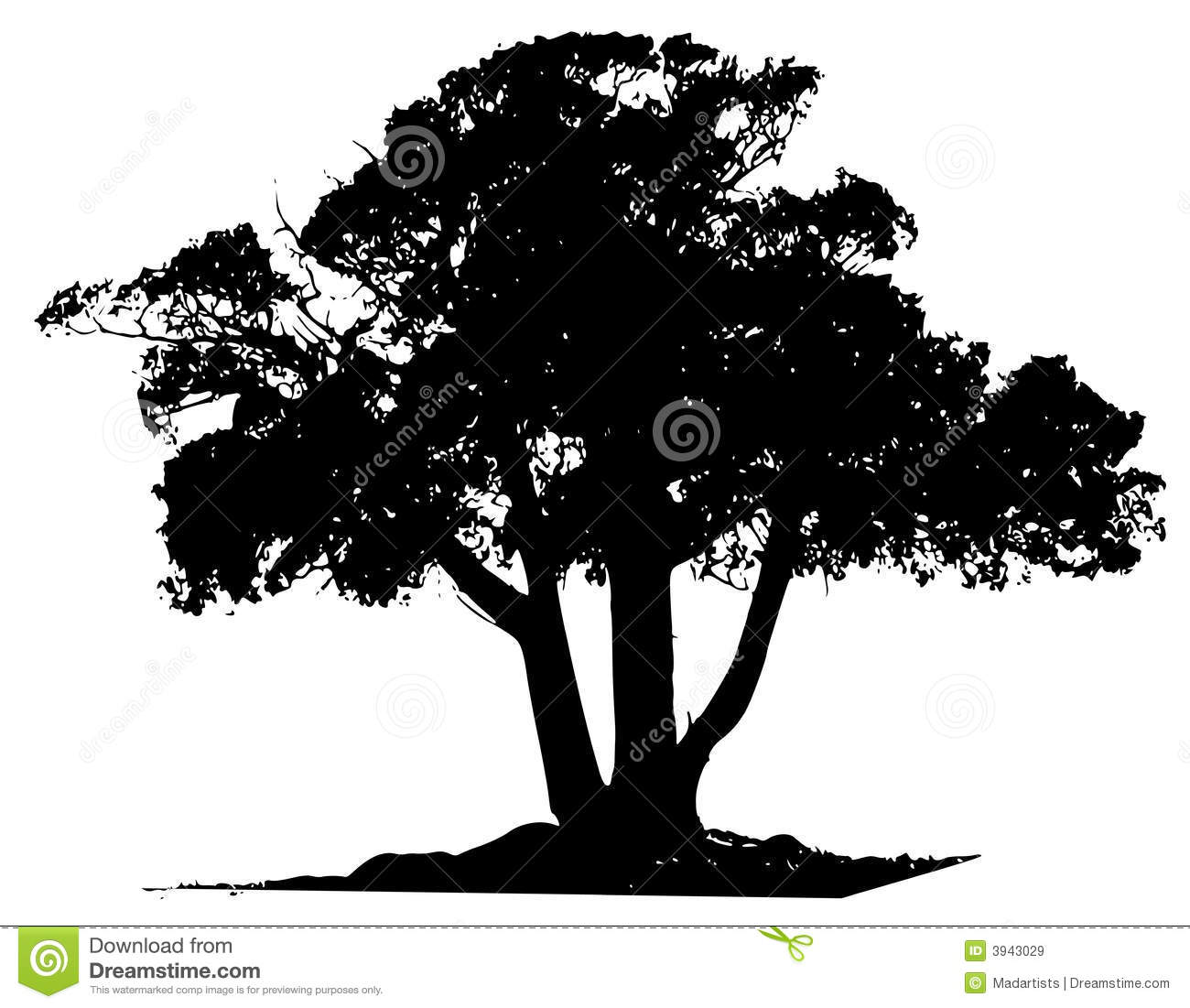 Vector Tree Black Outline Royalty Free Stock Images Image