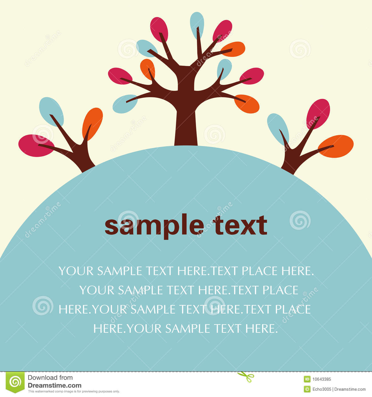 ... Tree Flyer/Poster Template Royalty Free Stock Photo - Image: 10643385