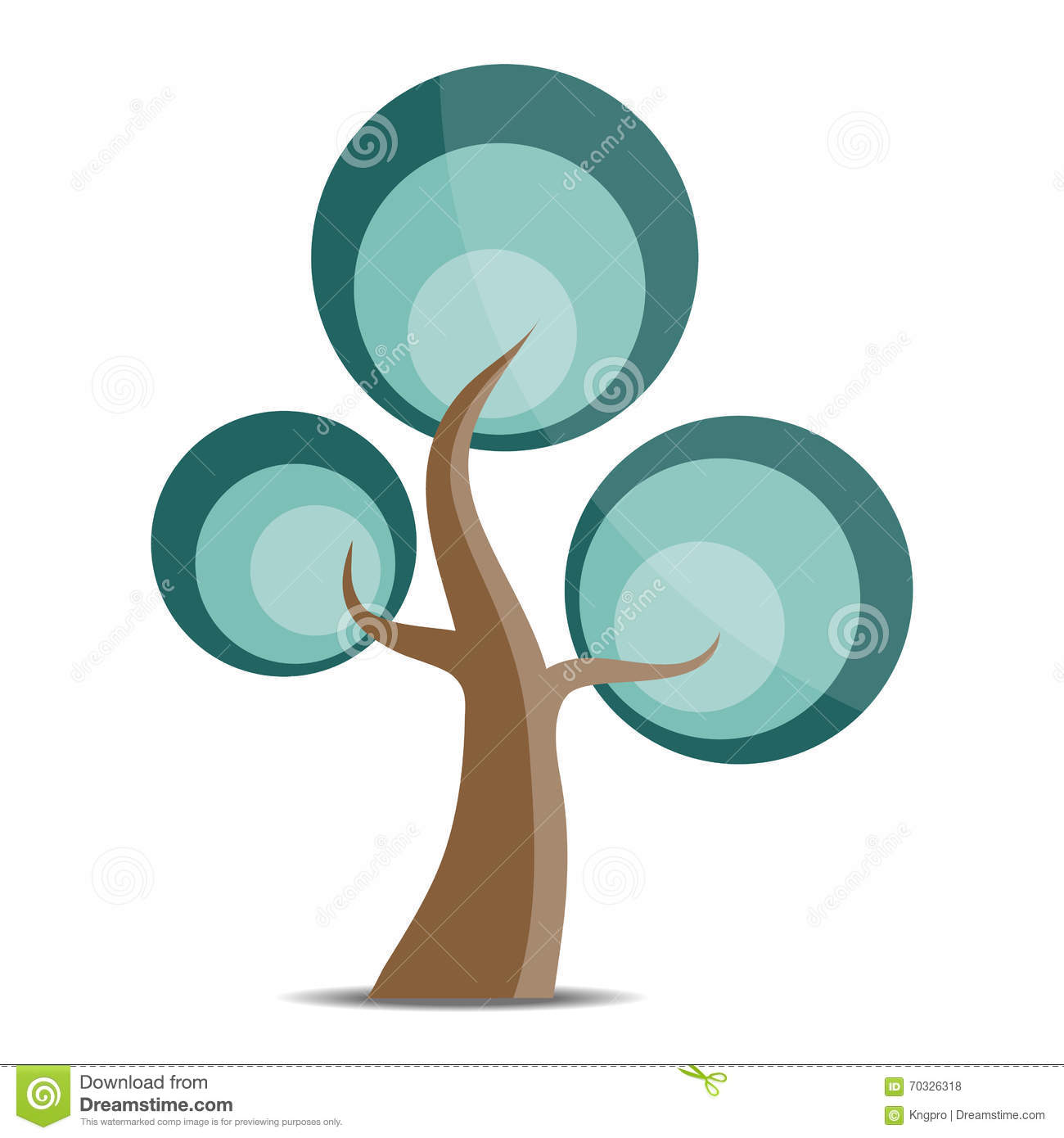 Vector Tree Logo Stock Vector - Image: 70326318