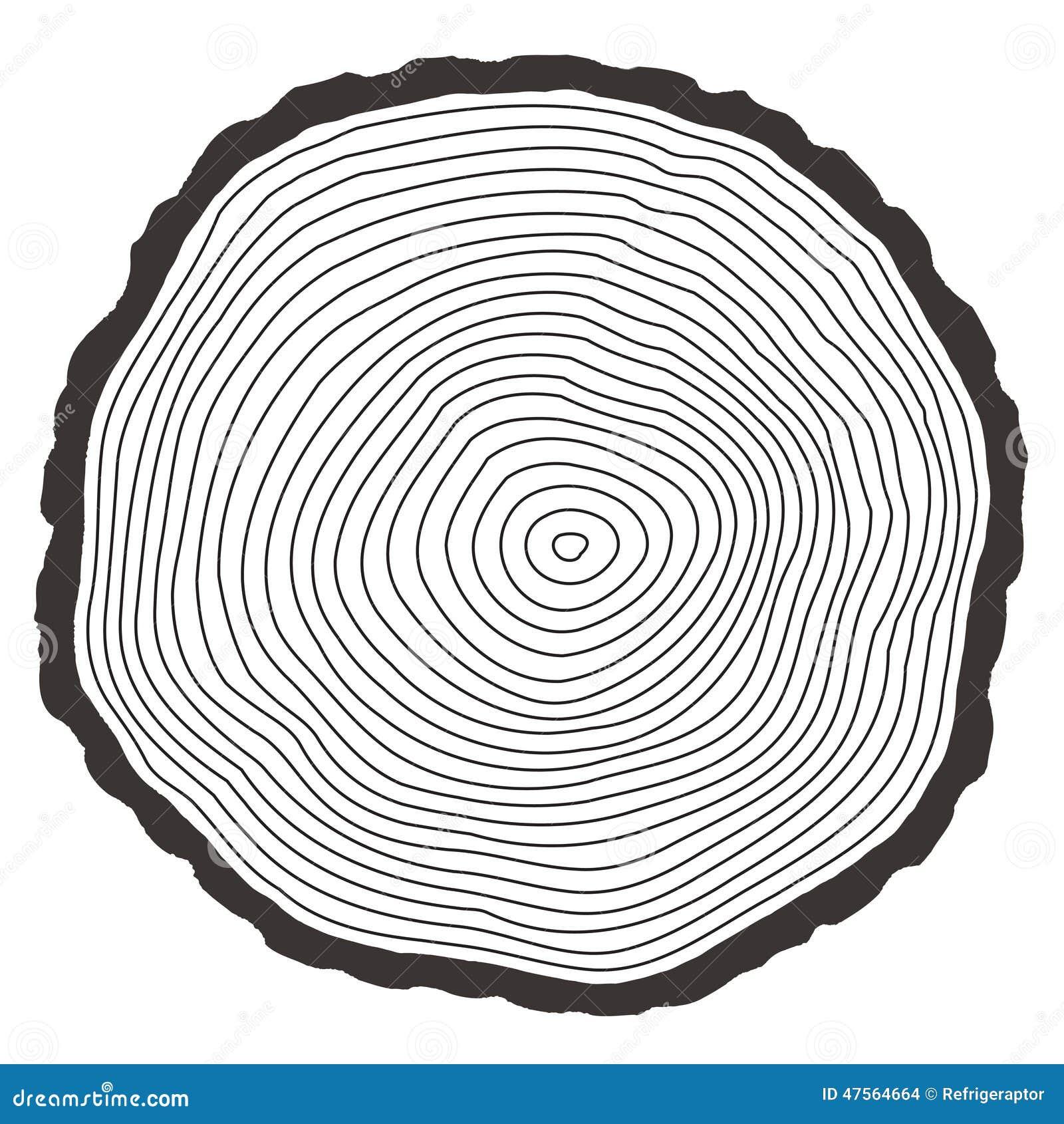 Vector tree rings stock vector. Illustration of ...