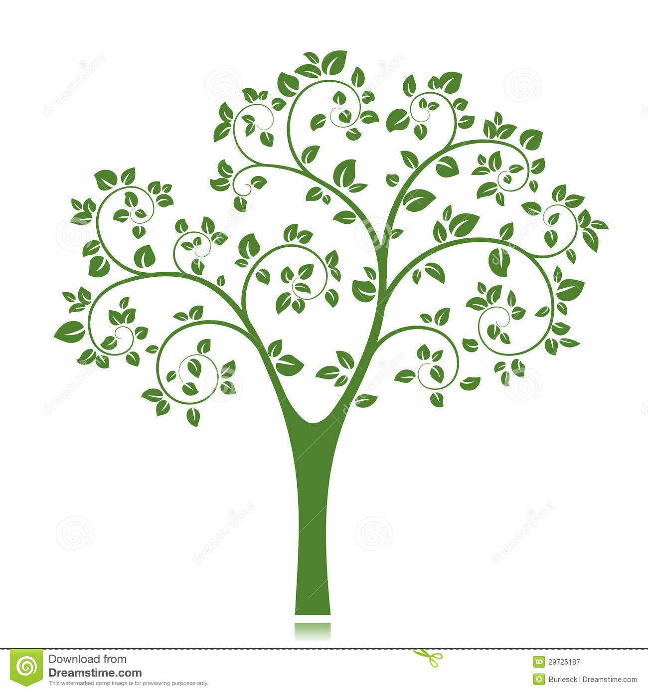 Vector Tree Silhouette Royalty Free Stock Photography - Image ...
