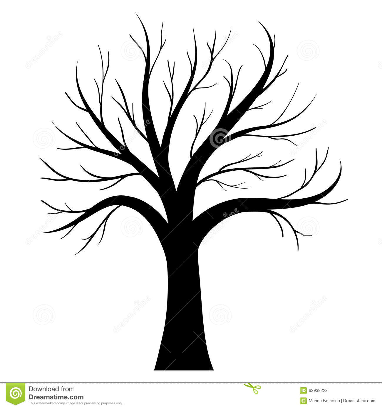 Vector Tree Silhouette Stock Vector - Image: 62938222