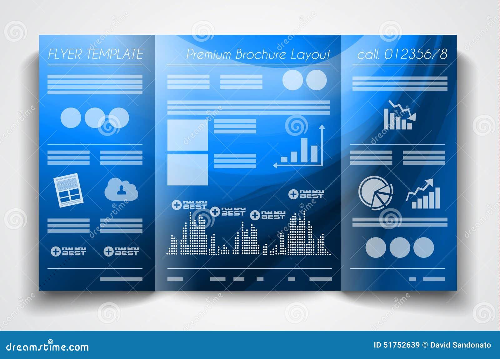 Vector Tri Fold Brochure Template Design Or Flyer Layout – Free Printable Tri Fold Brochure Templates