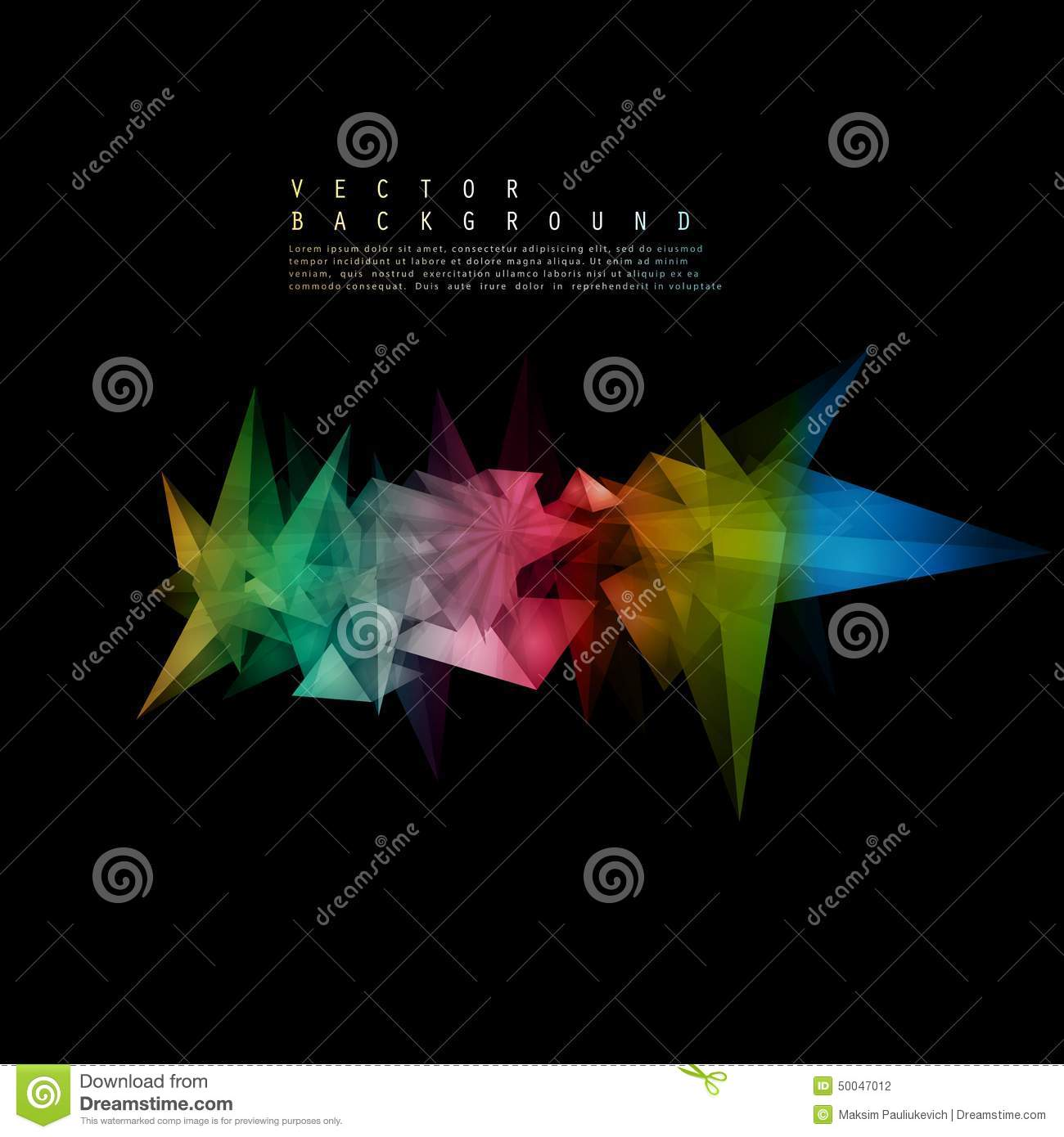 Vector Triangles pattern background