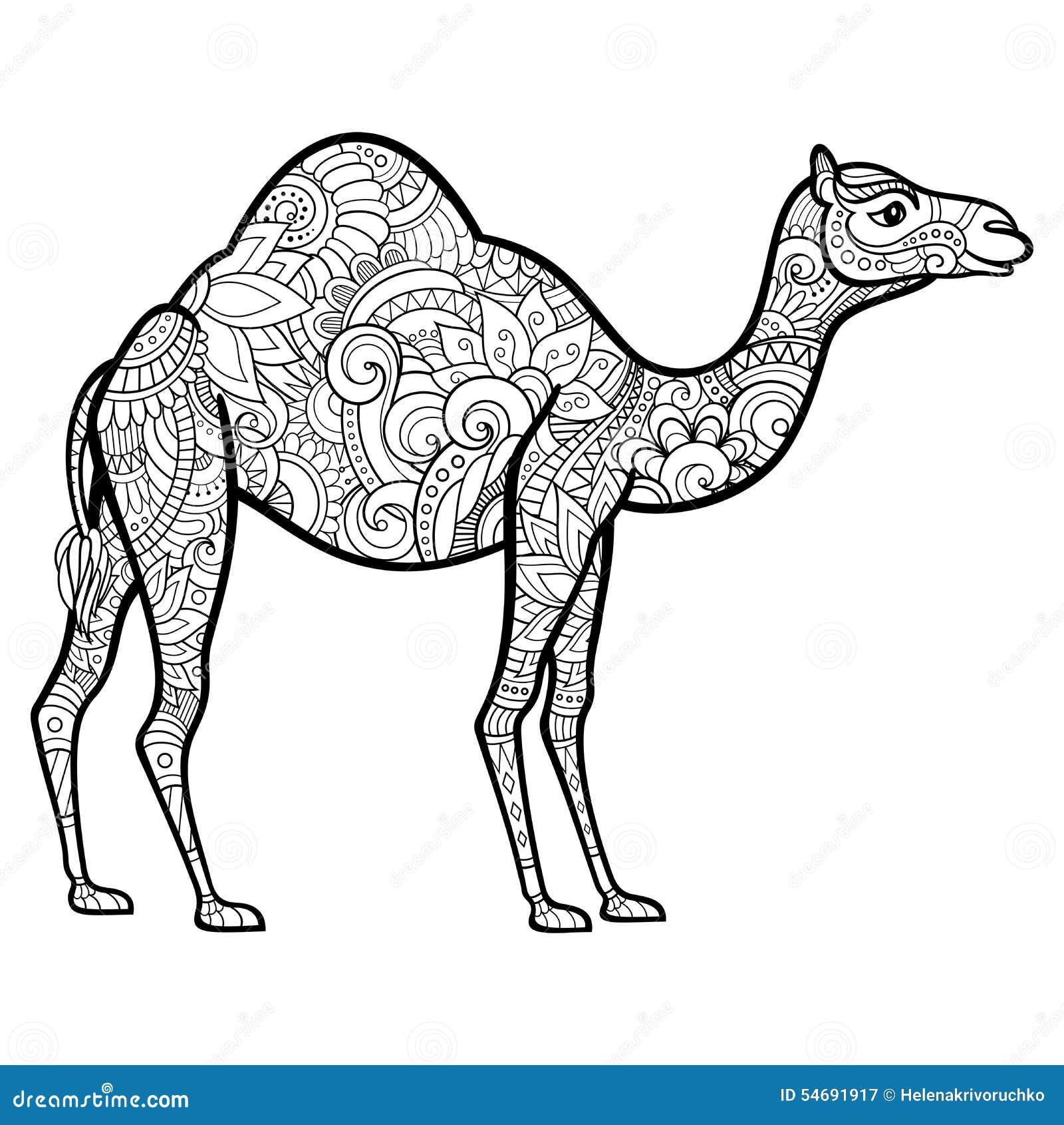 Vector Tribal Decorative Camel Stock Vector Image 54691917