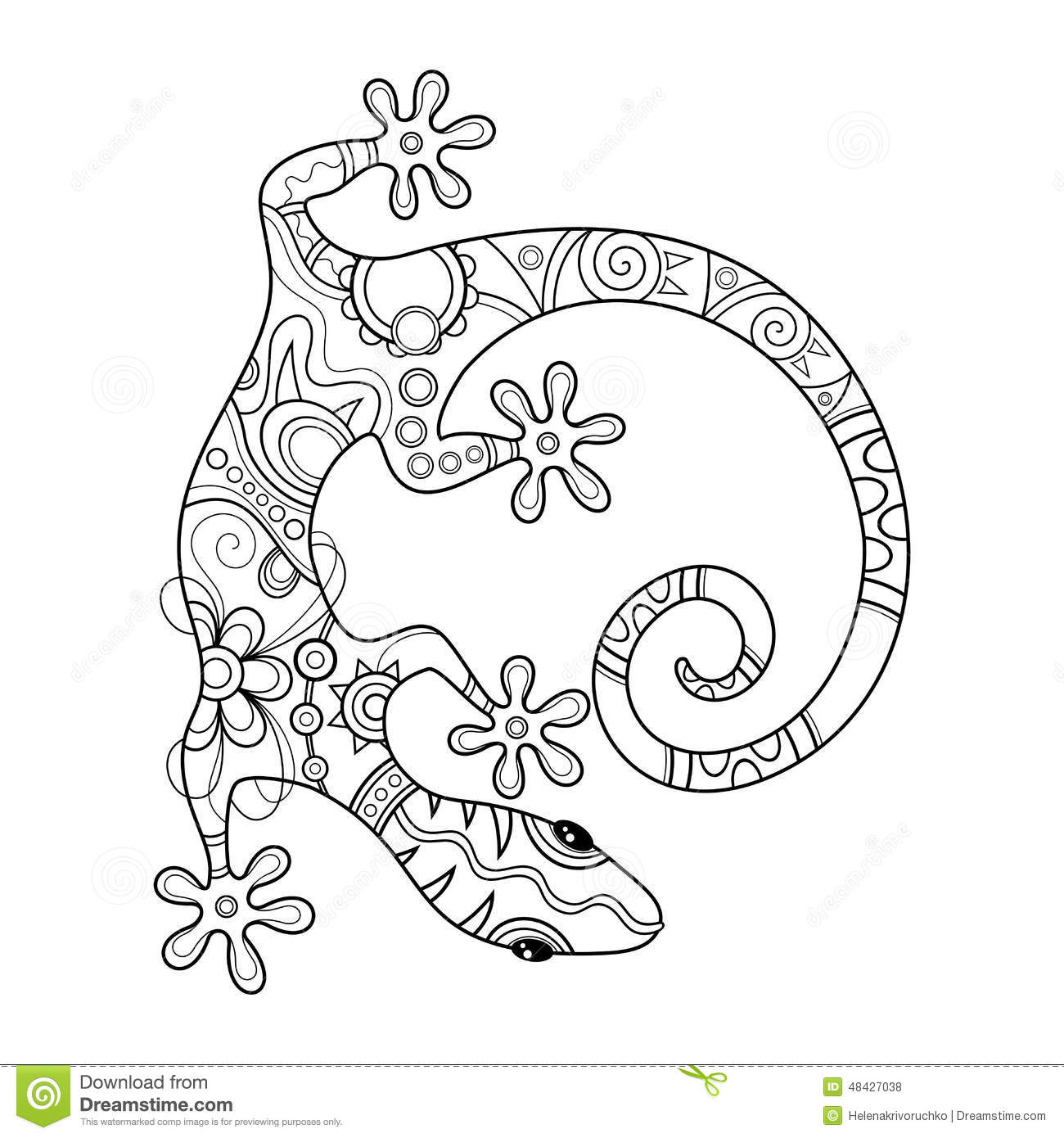 Free ornamental mandala vector download free vector art stock - Vector Tribal Decorative Lizard Stock Vector Image 48427038