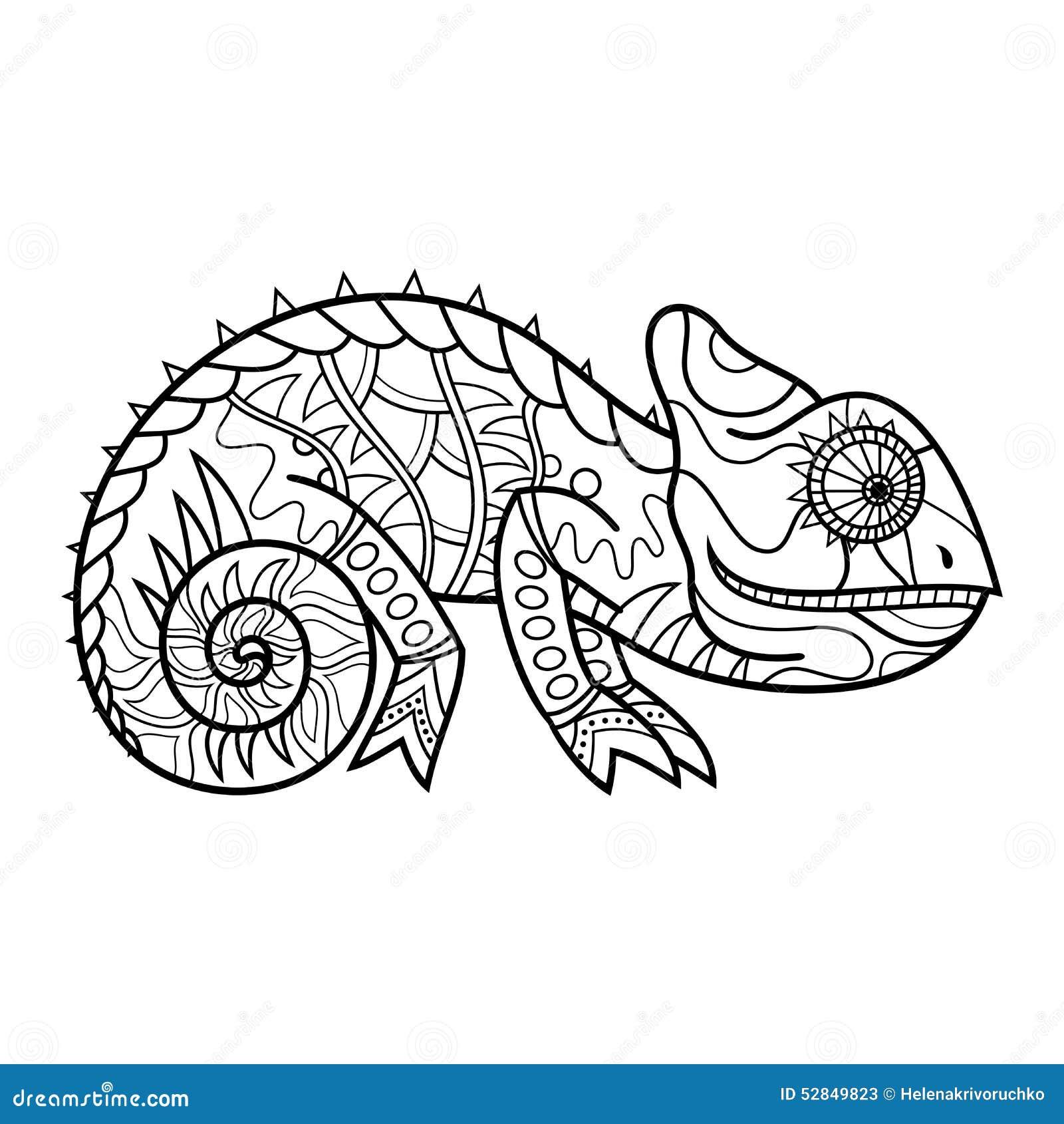 vector tribal decorative lizard stock vector image 52849823. Black Bedroom Furniture Sets. Home Design Ideas