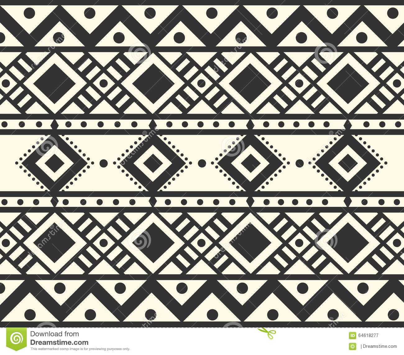 Vector Tribal Ethnic Pattern Stock Vector Image 64618277