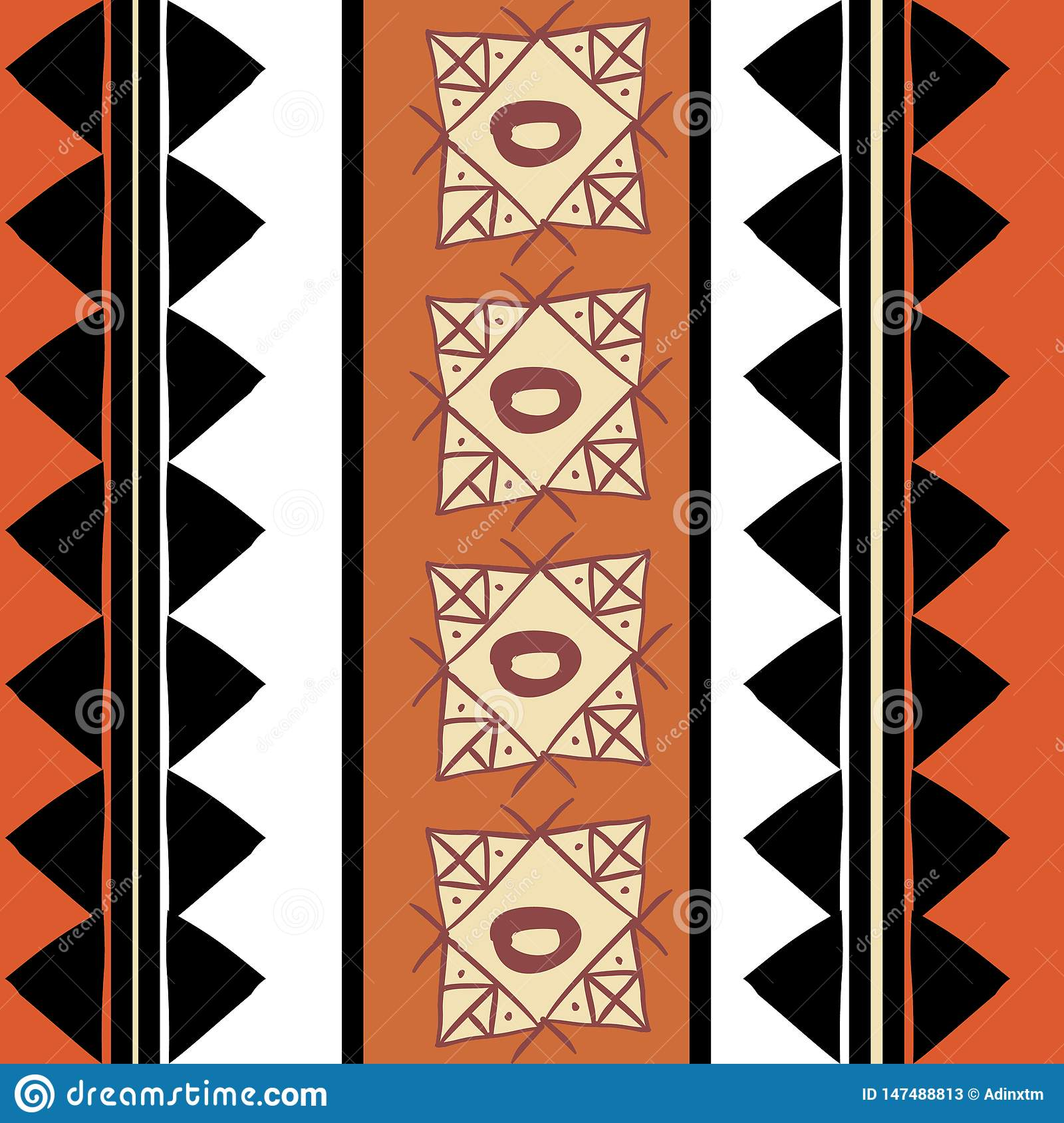 Vector tribal pattern with colorful hand drawn ethnic handmade. Good for your textile fashion wrapping and print