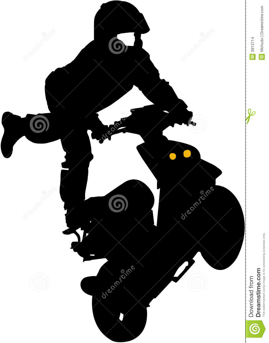 vector of trick on scooter stock vector illustration