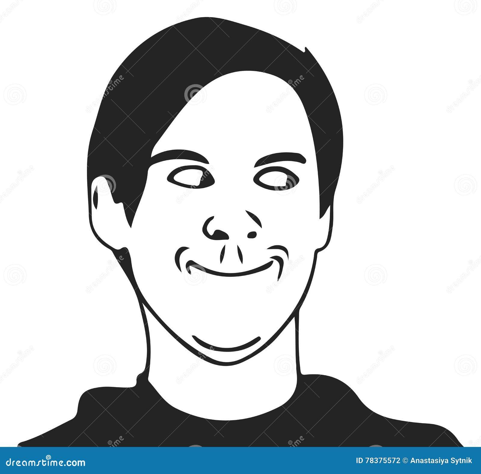 Vector troll guy meme face for any design. eps 10.