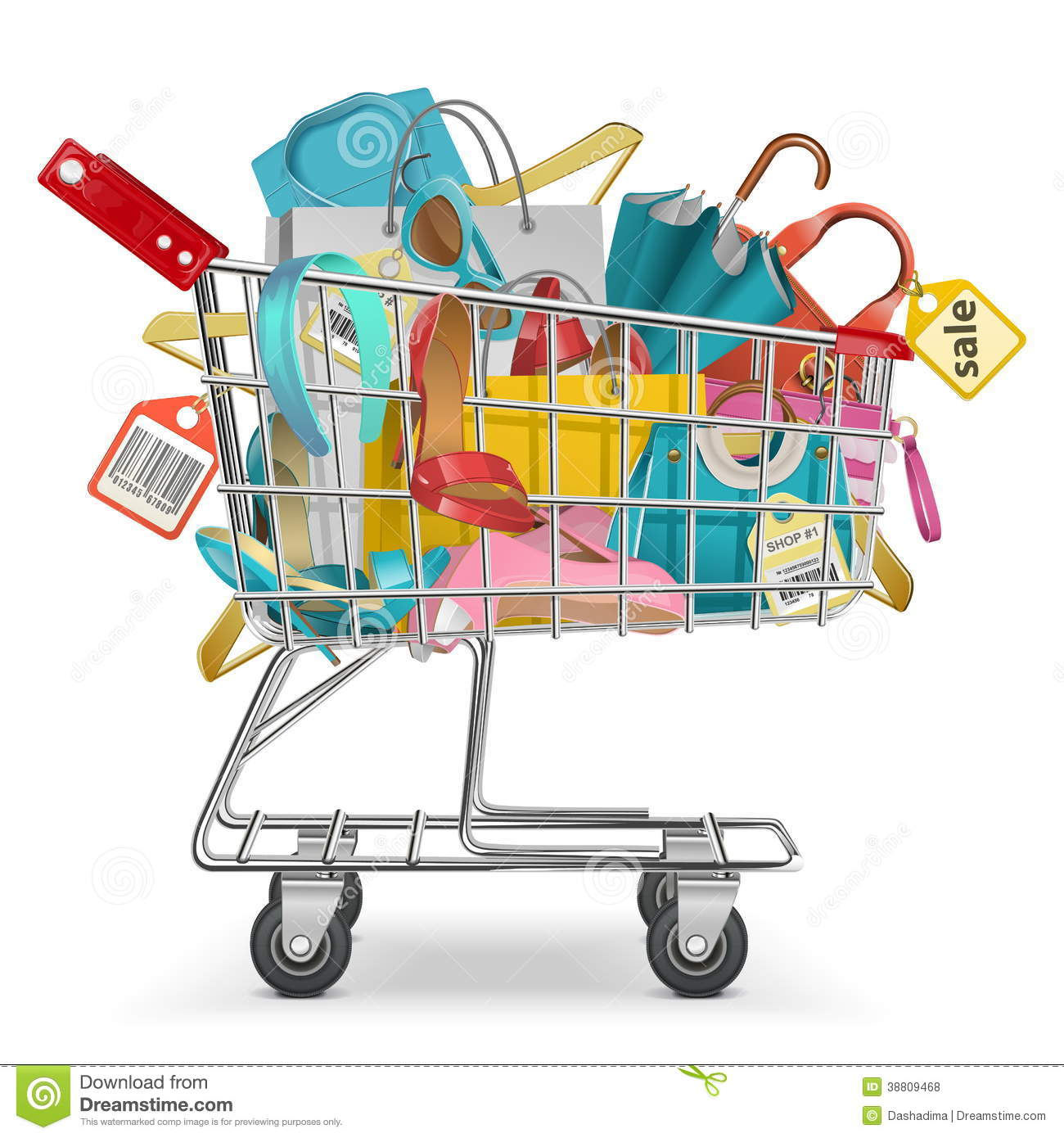 purchase trolley royalty free stock photography image 19835807