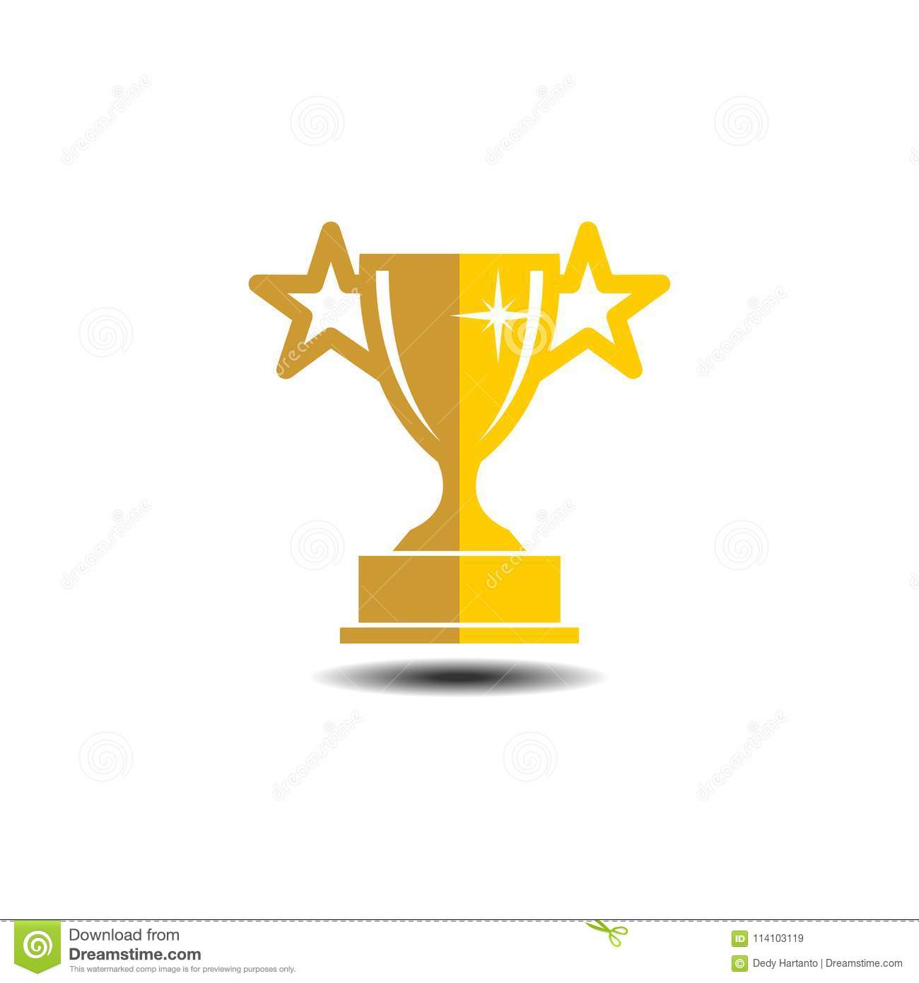Vector Trophy Illustration Stock Of Champion