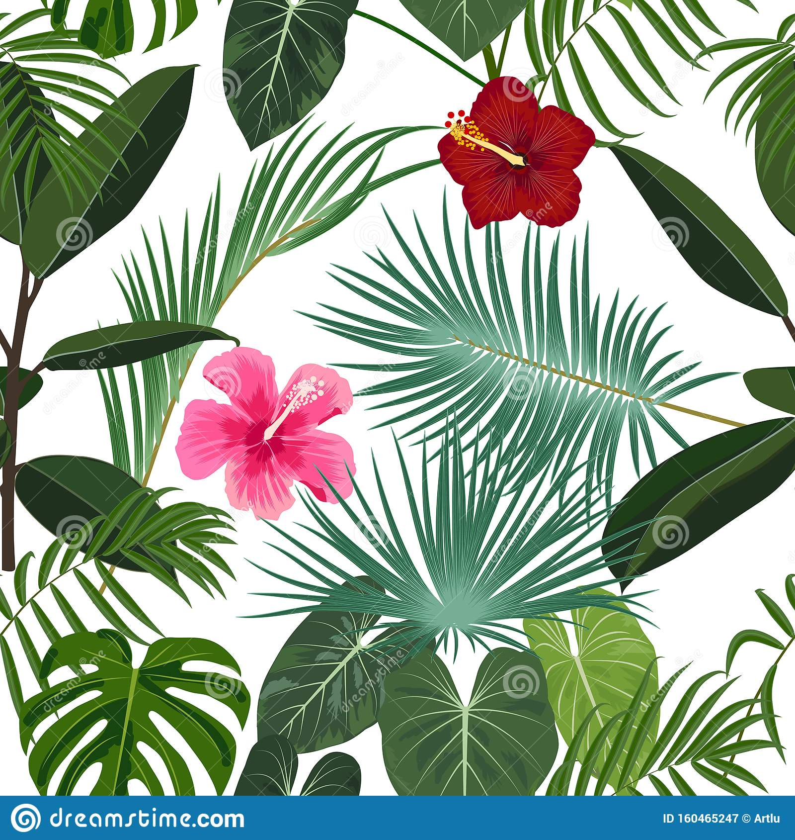 Tropical Jungle Palm Leaves Seamless Pattern Vector Background Stock Vector Illustration Of Background Ficus 160465247 Trees of wet tropical rain forests tend to be. https www dreamstime com vector tropical jungle seamless pattern flowers palm trees leaves ficus background wedding quotes birthday invitation image160465247