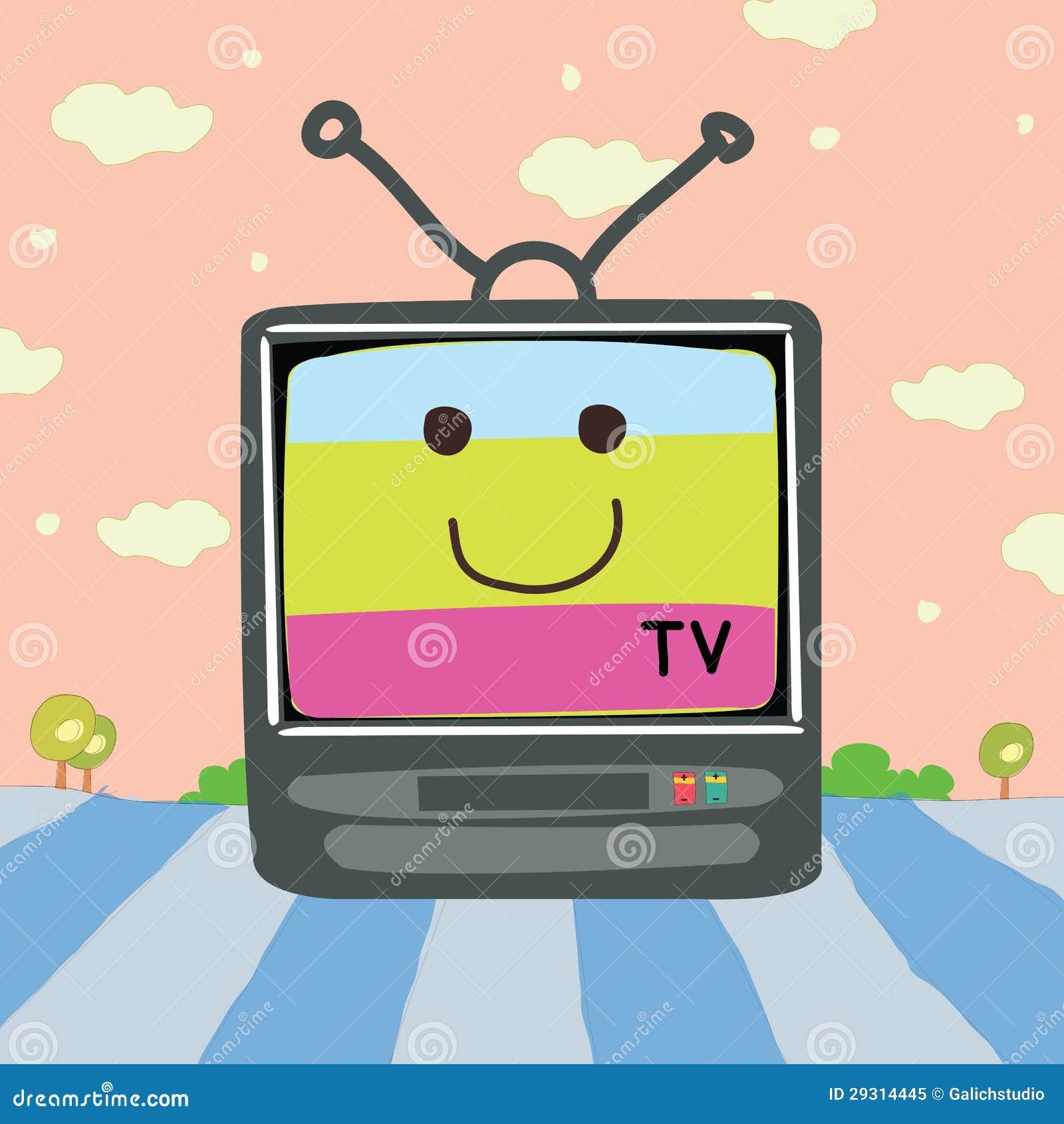 Vector Tv Cartoon Royalty Free Stock Photo - Image: 29314445