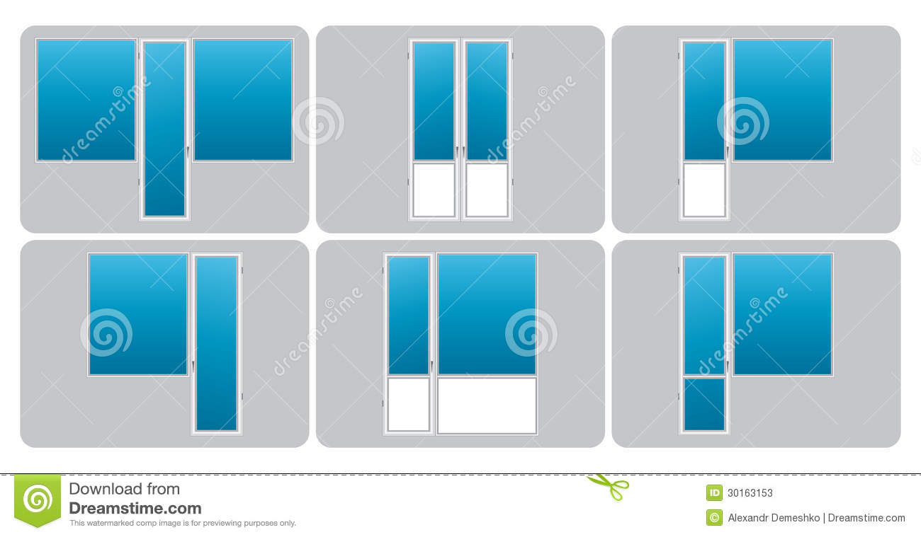 Vector types of balconies stock photos image 30163153 for Types of balcony