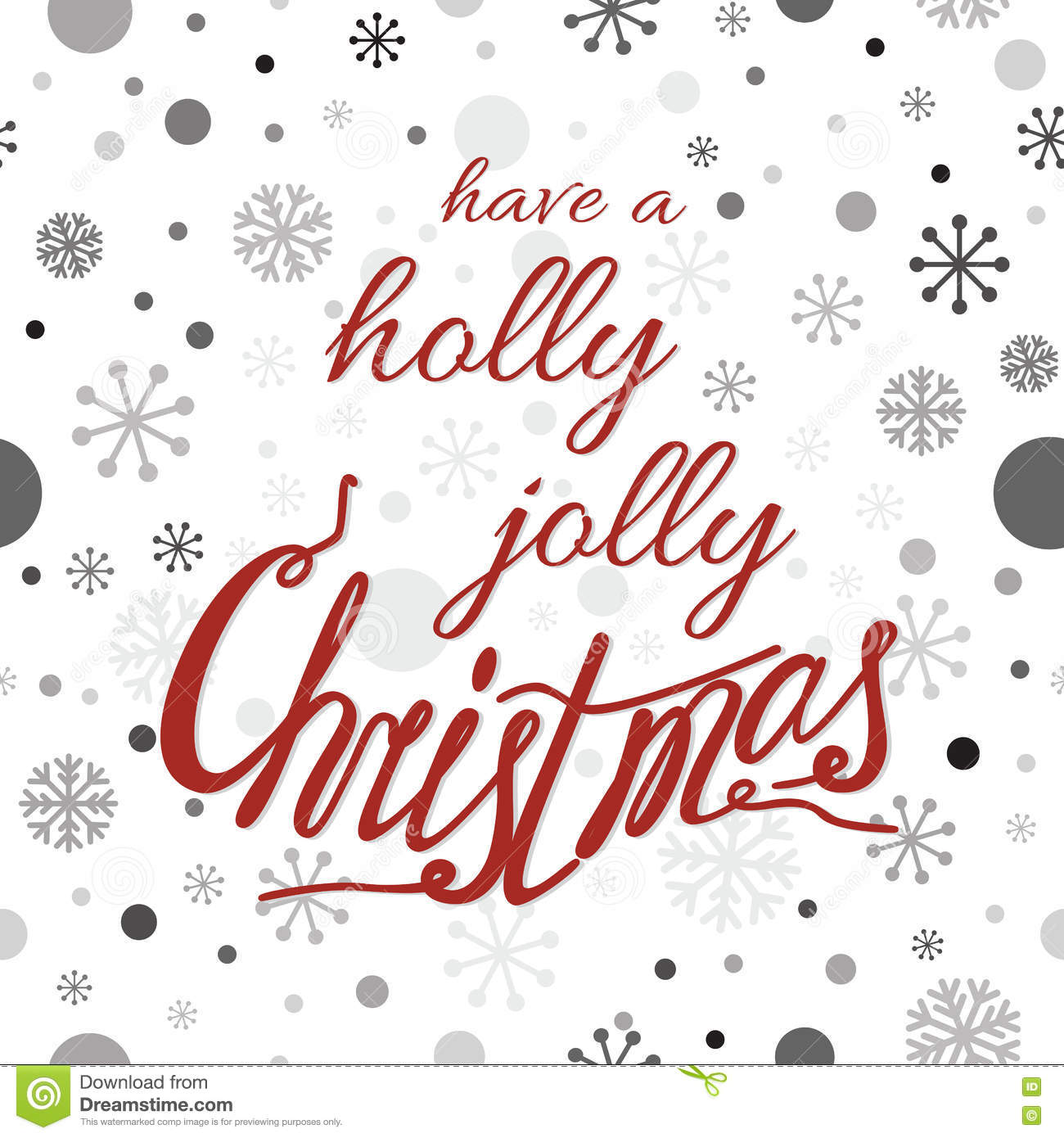 Vector Typography Banner Design Have A Holly Jolly Christmas Quote ...