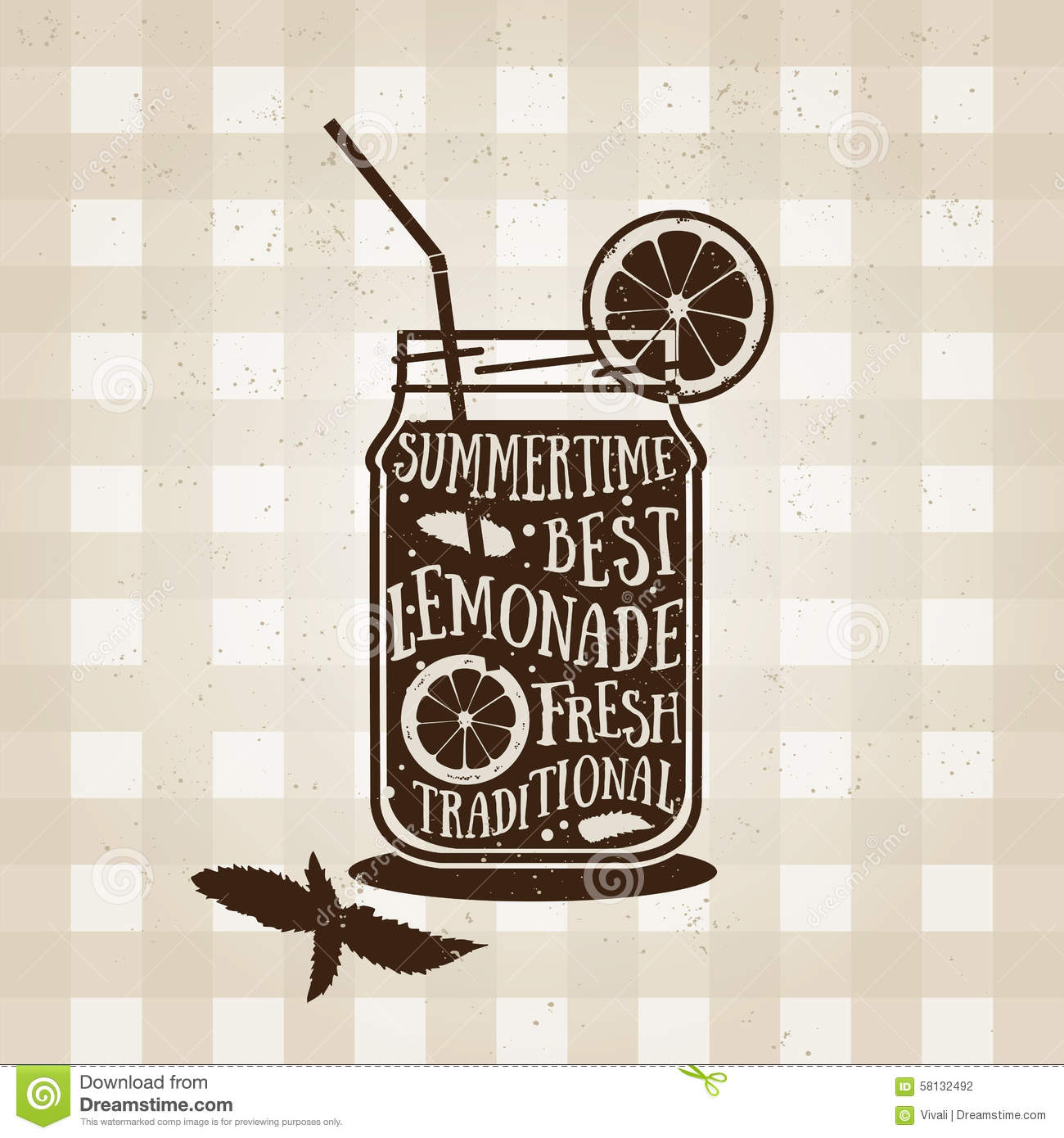 vector typography poster with lemonade icon quote stock vector image 58132492