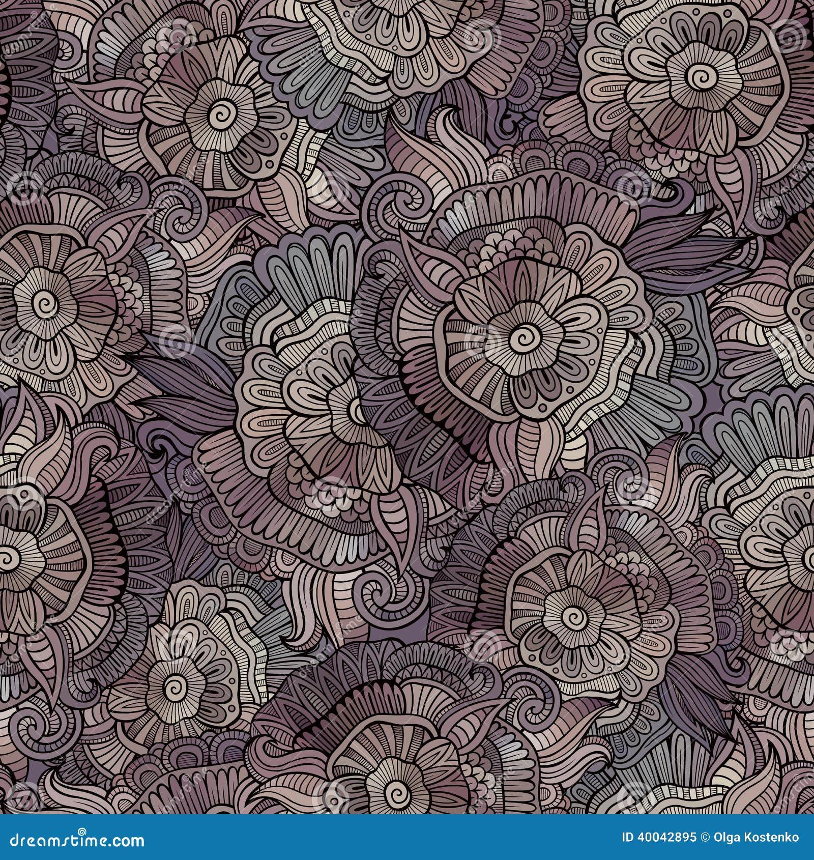 Vector uitstekend naadloos abstract bloemenpatroon