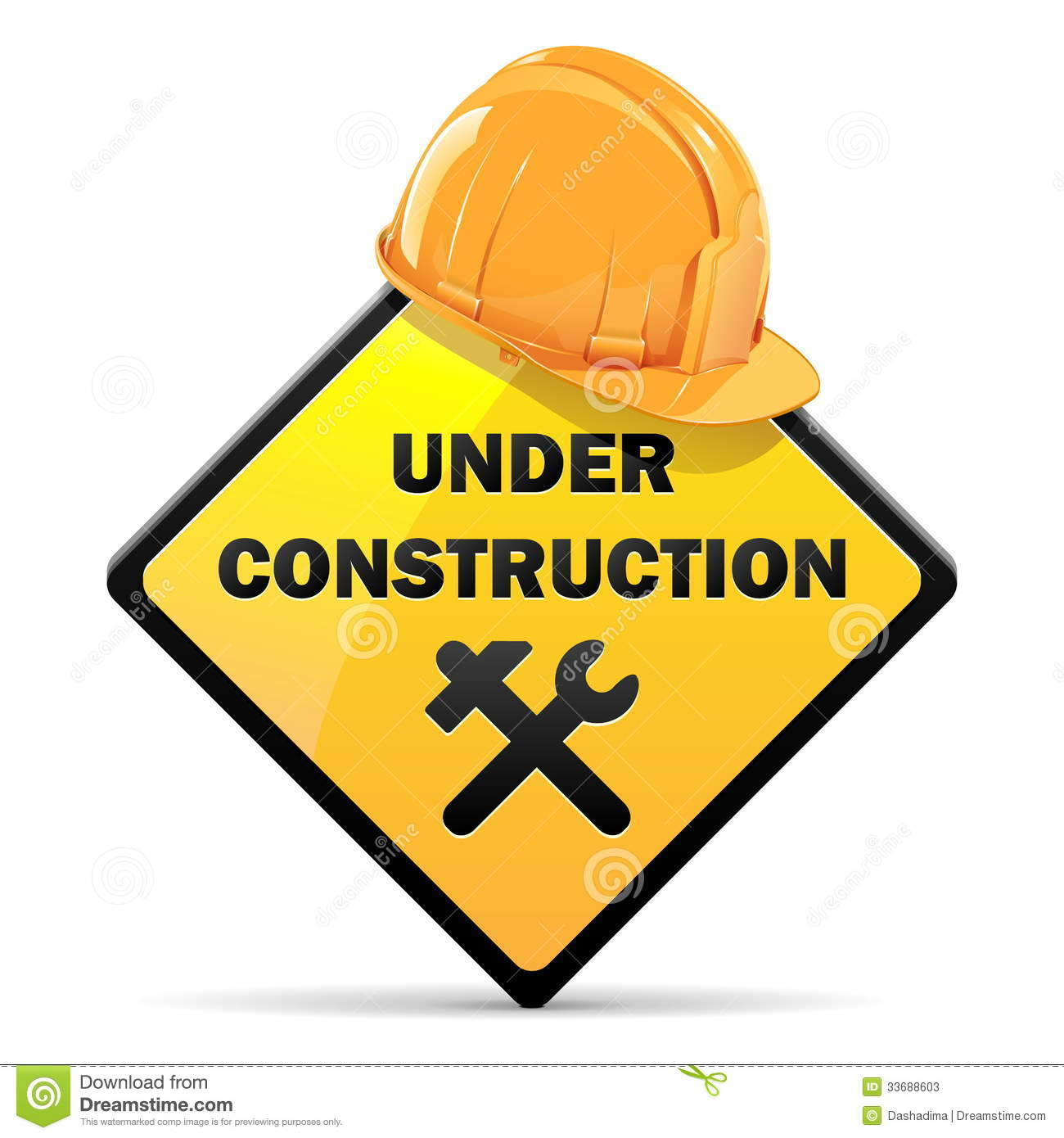 Vector Under Construction Sign With Helmet Stock Photos ...
