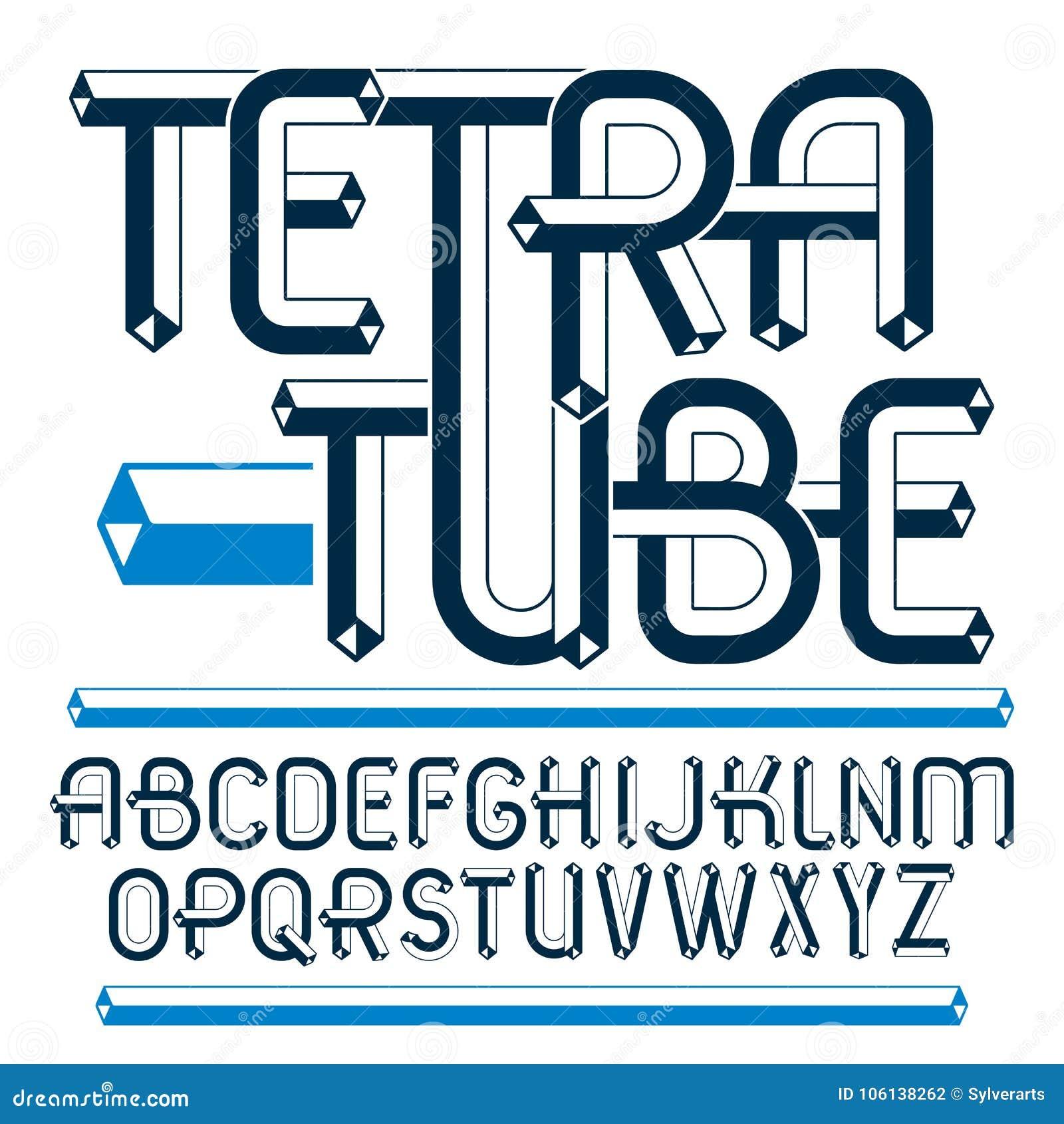 Abc Creation à vector upper case modern alphabet letters, abc set. artistic reg