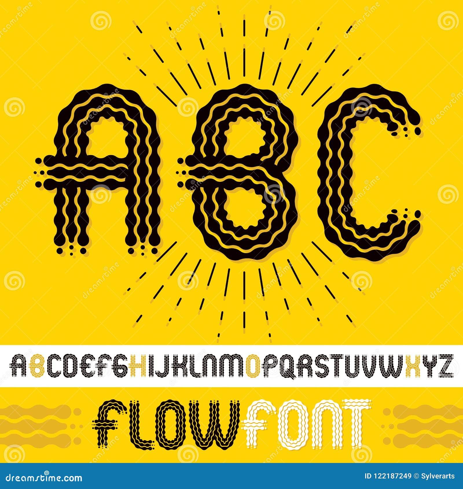 Abc Creation intérieur vector upper case modern pop alphabet letters, abc set. rounded