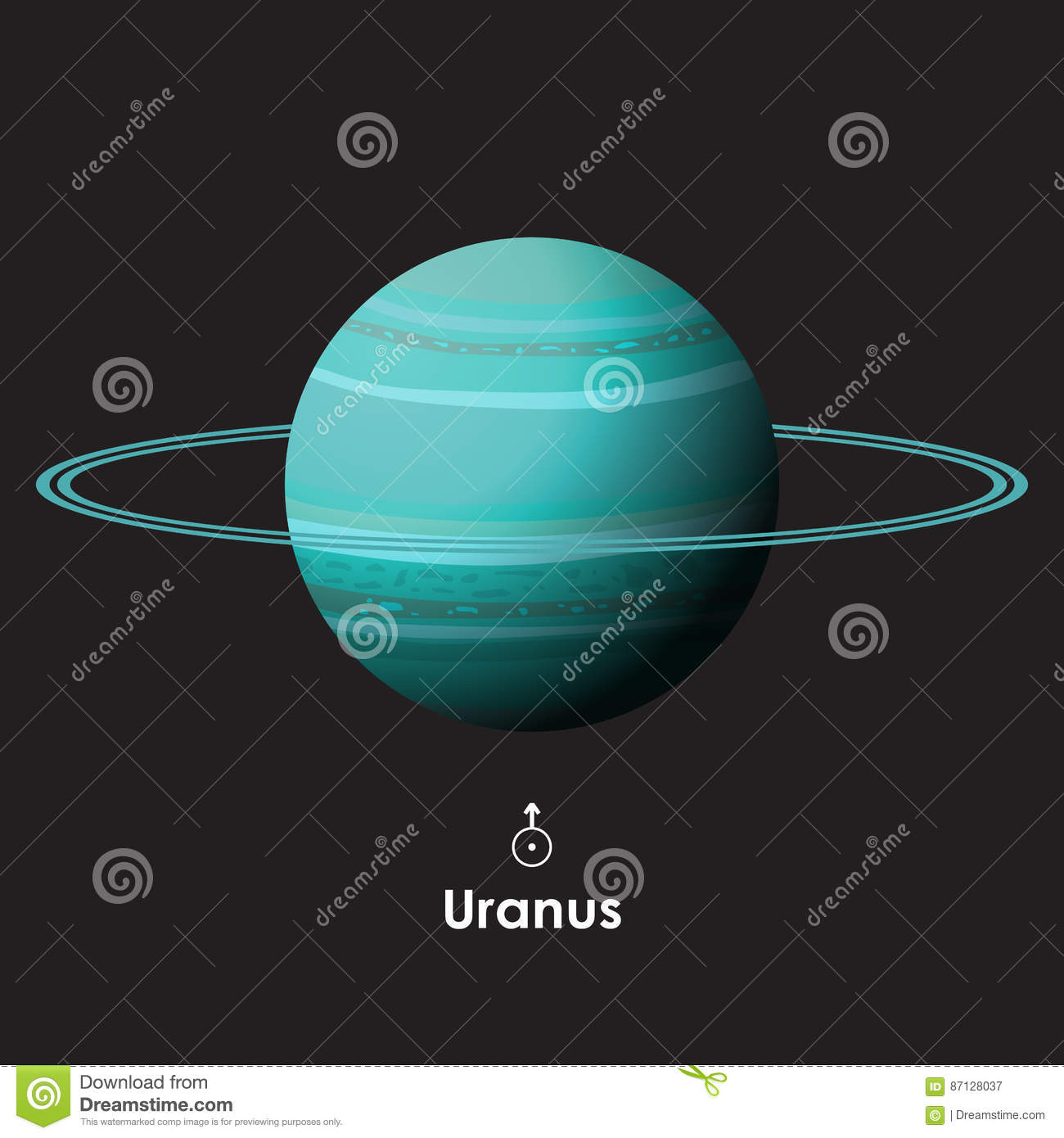 Vector uranus on background with symbol stock vector illustration vector uranus on background with symbol biocorpaavc Gallery