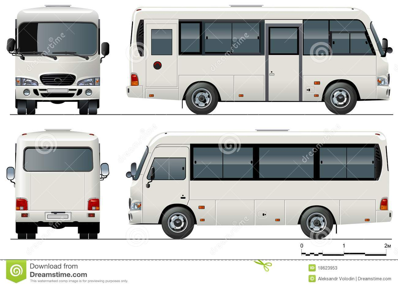 Mini bus Available Ai 10 Format Separated By Groups For Easy Edit