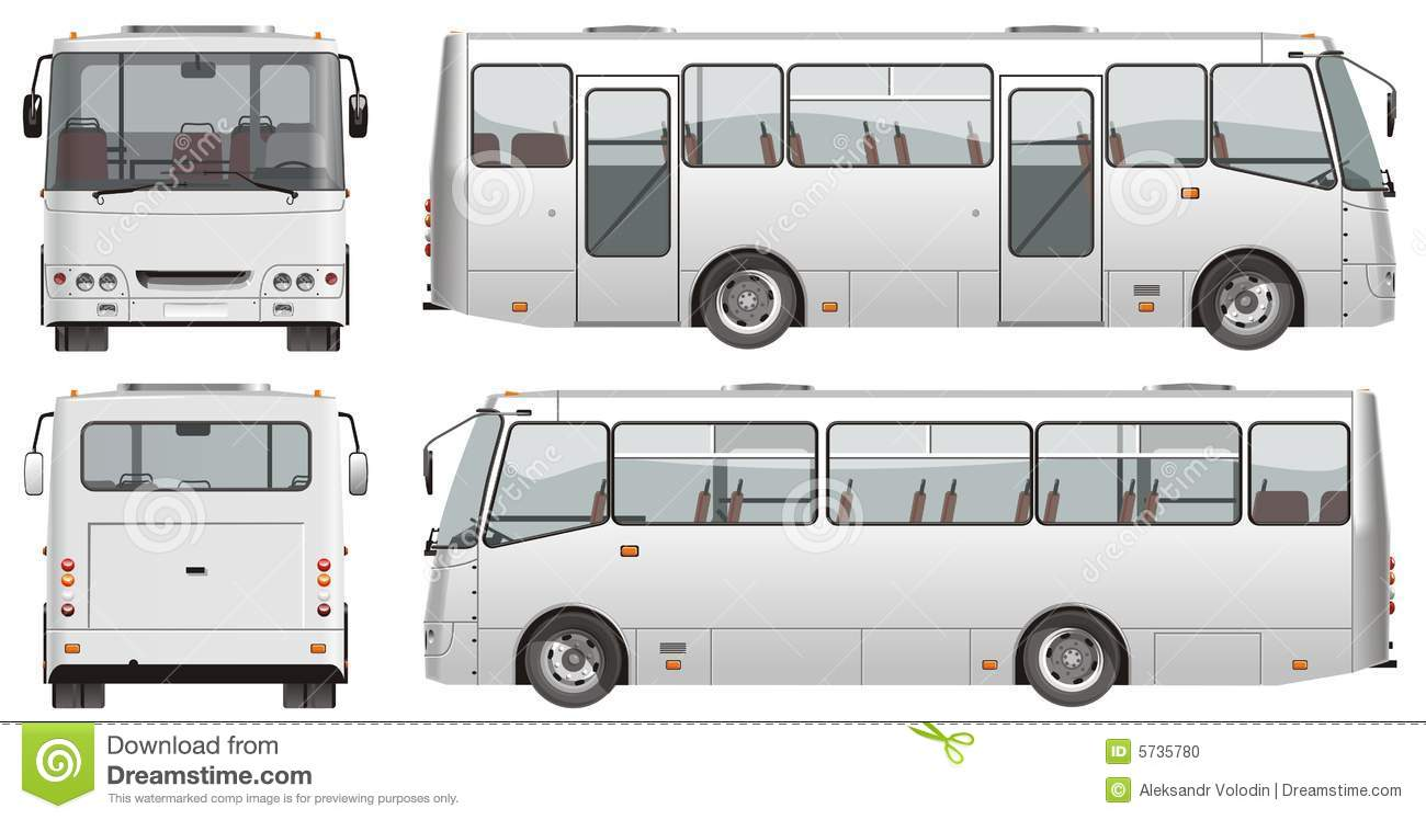 Vector Urban Passenger Mini-bus Stock Photo - Image: 5735780
