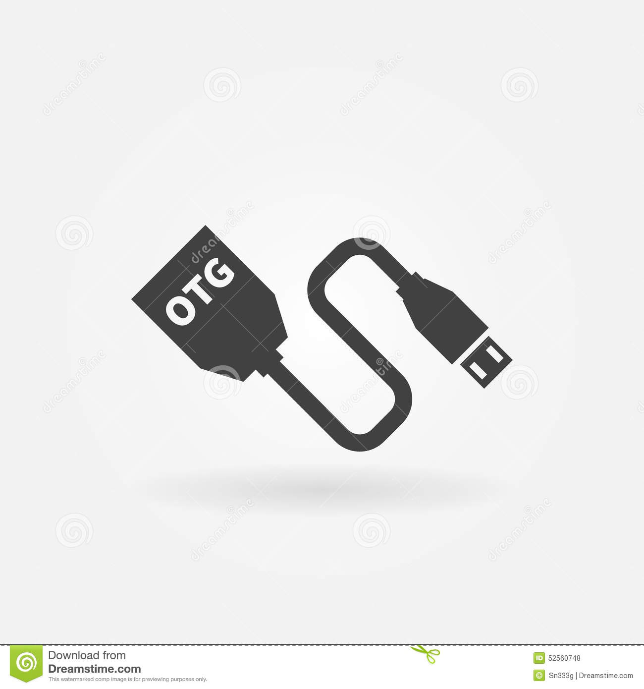 Vector Usb Otg Cable Icon Stock Vector Image 52560748